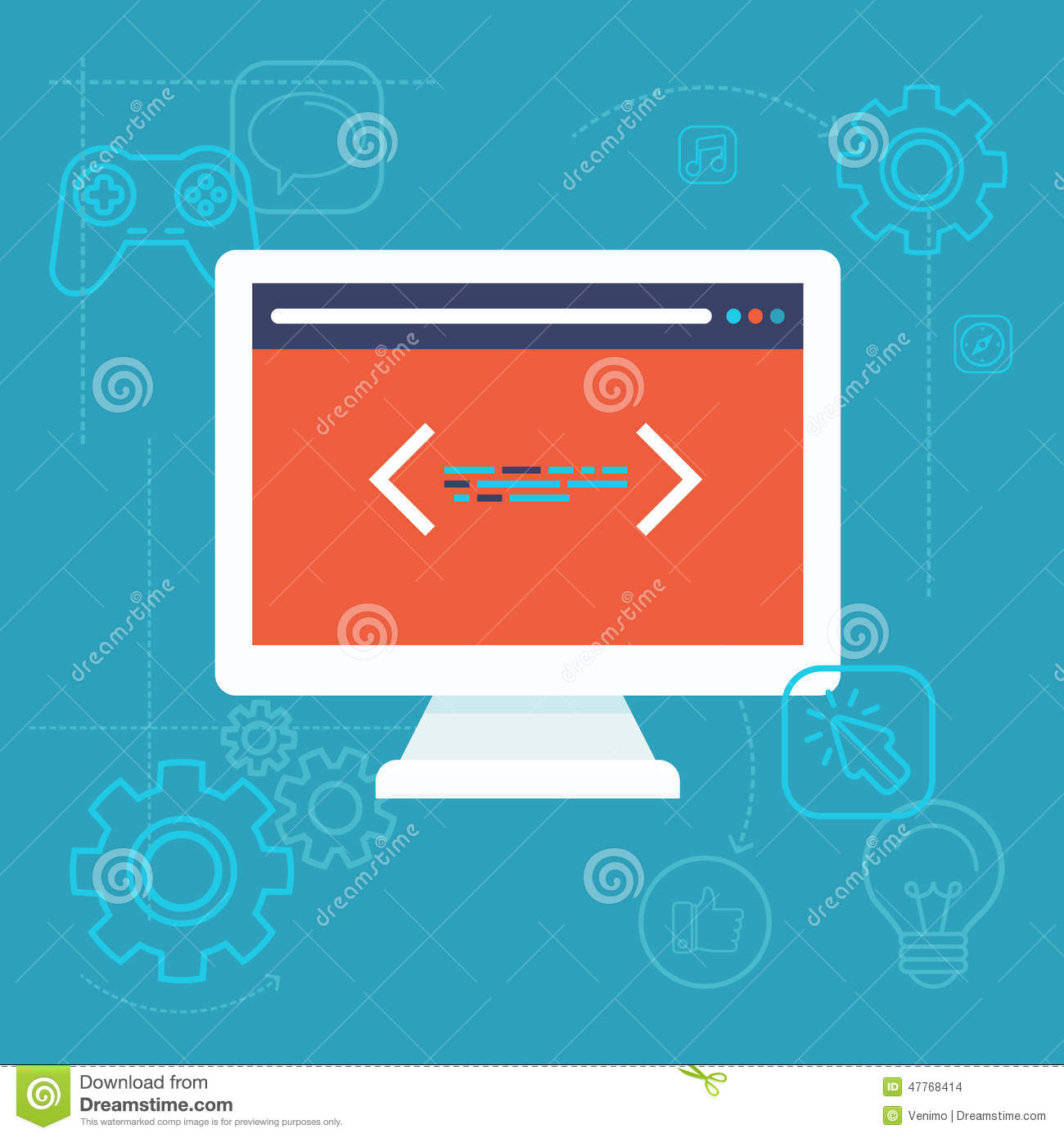 Vector software testing concept in flat style stock vector Vector image software