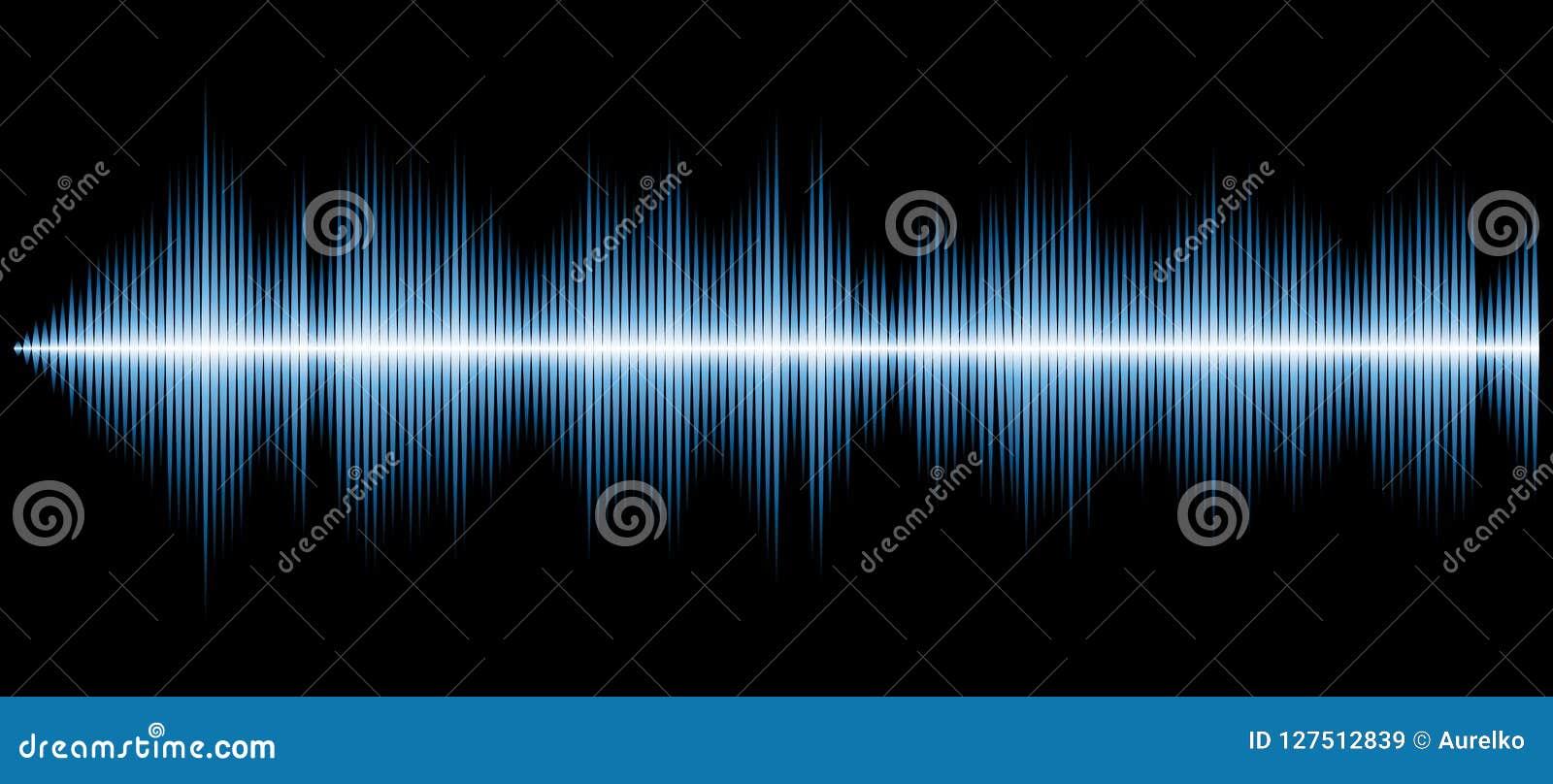 Sound diagram blue