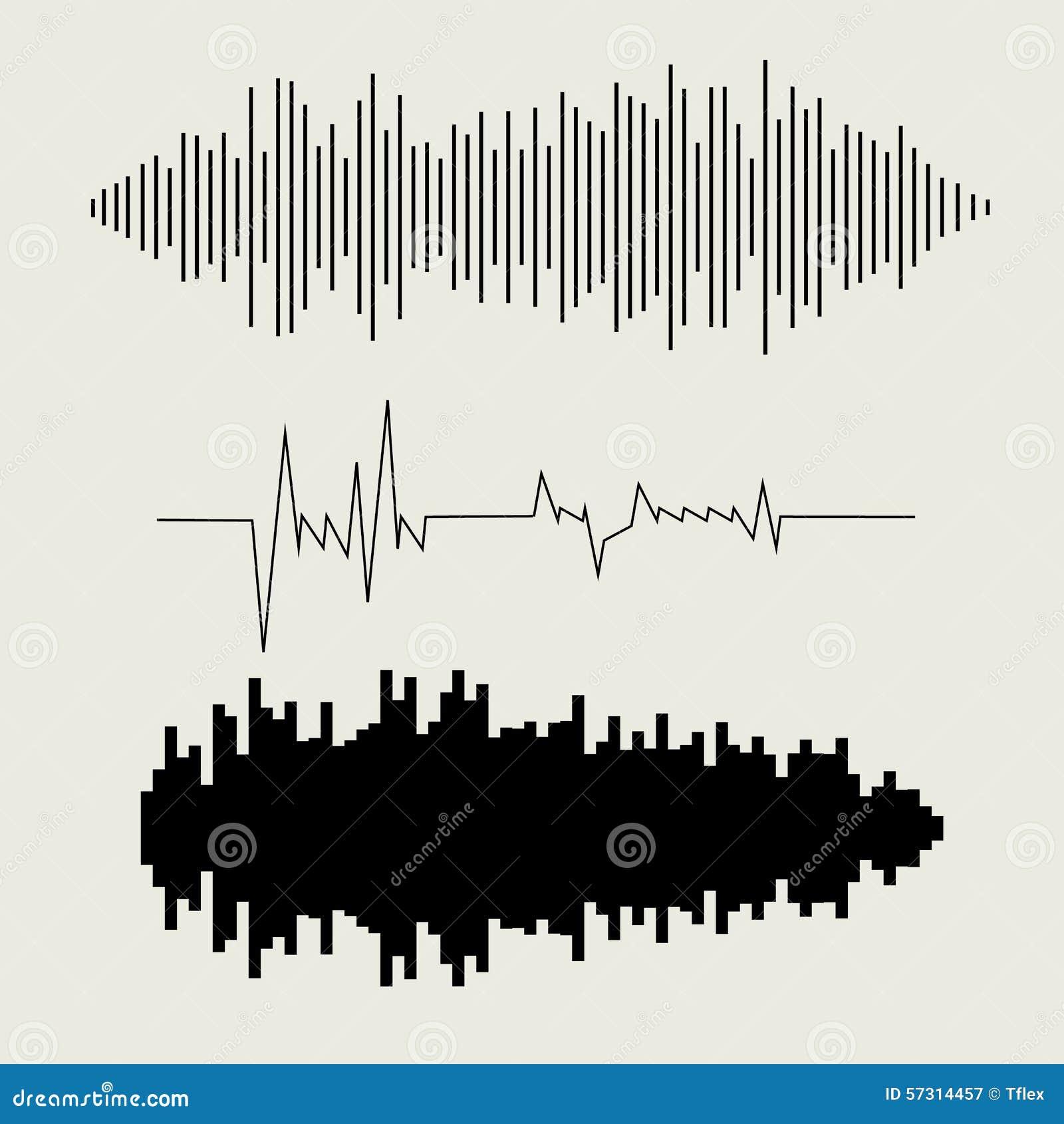 Astounding sound wave vector photos