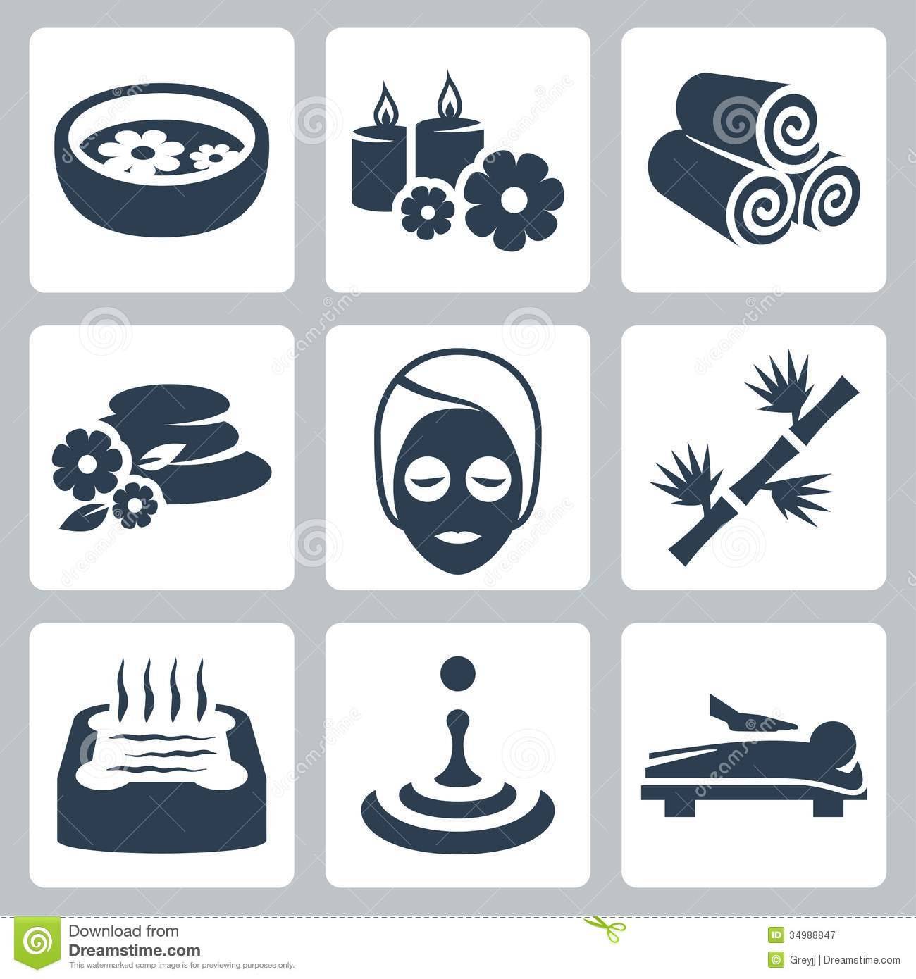vector spa icons set royalty free stock photography clip art dragonfly png clip art dragonfly outline only