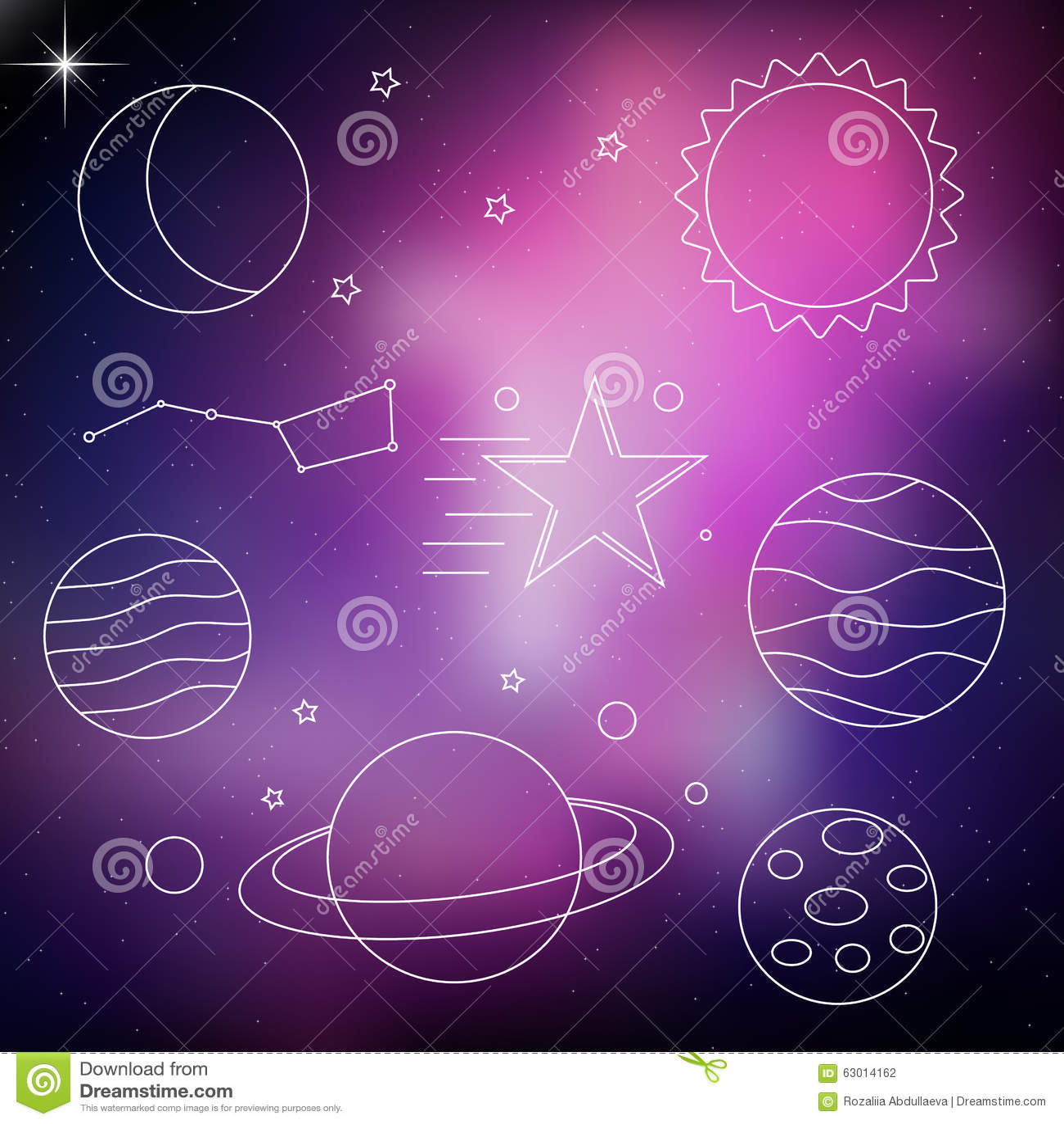 purple planet star comet - photo #20