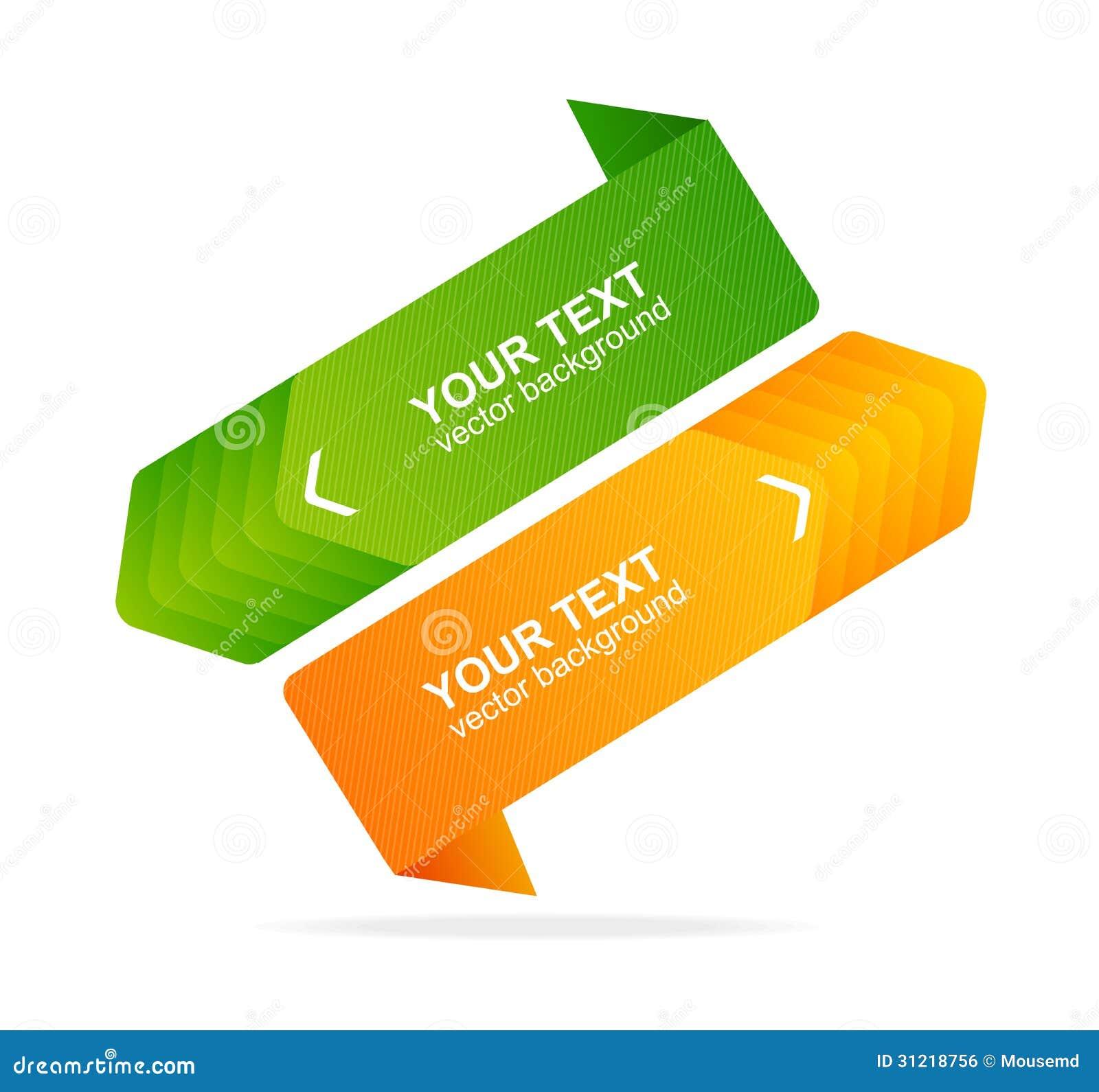 Vector Speech Templates For Text Orange, Green Stock Vector ...