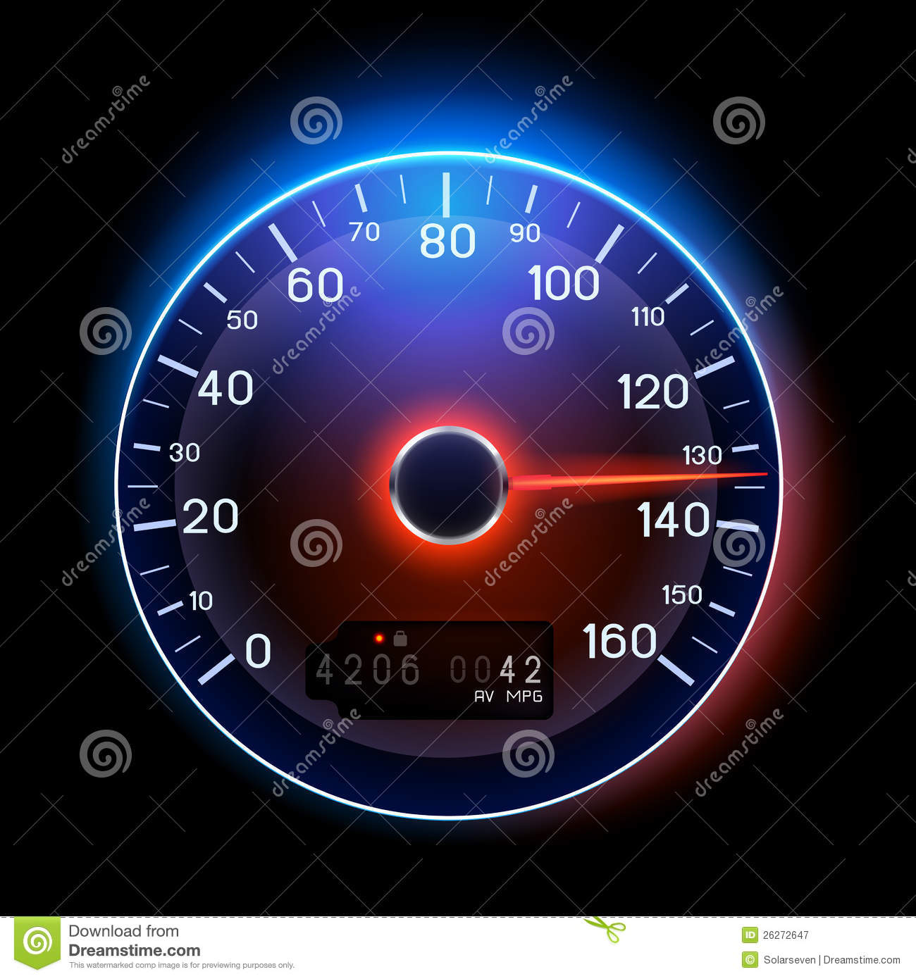 How To Sell A Car Fast >> Vector Speedometer Royalty Free Stock Photography - Image: 26272647