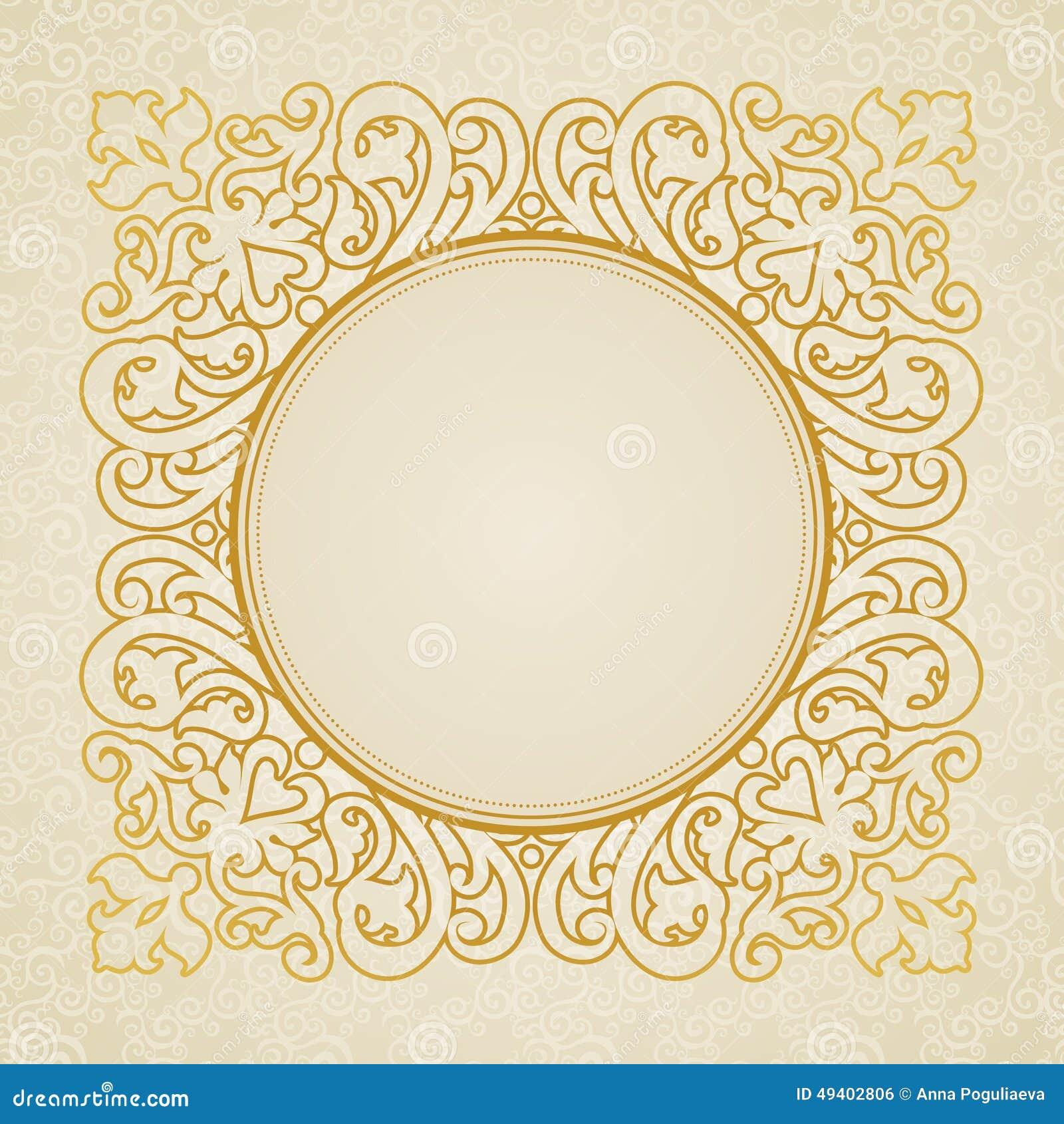 Download Vector Spitzerahmen In Der Ostart Auf Nahtlosem Hintergrund Vektor Abbildung - Illustration von fries, orientalisch: 49402806