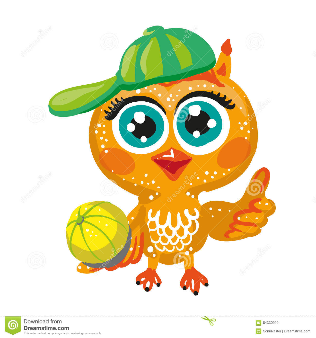 Cute Cartoon Owl Girl Vector Cartoondealer