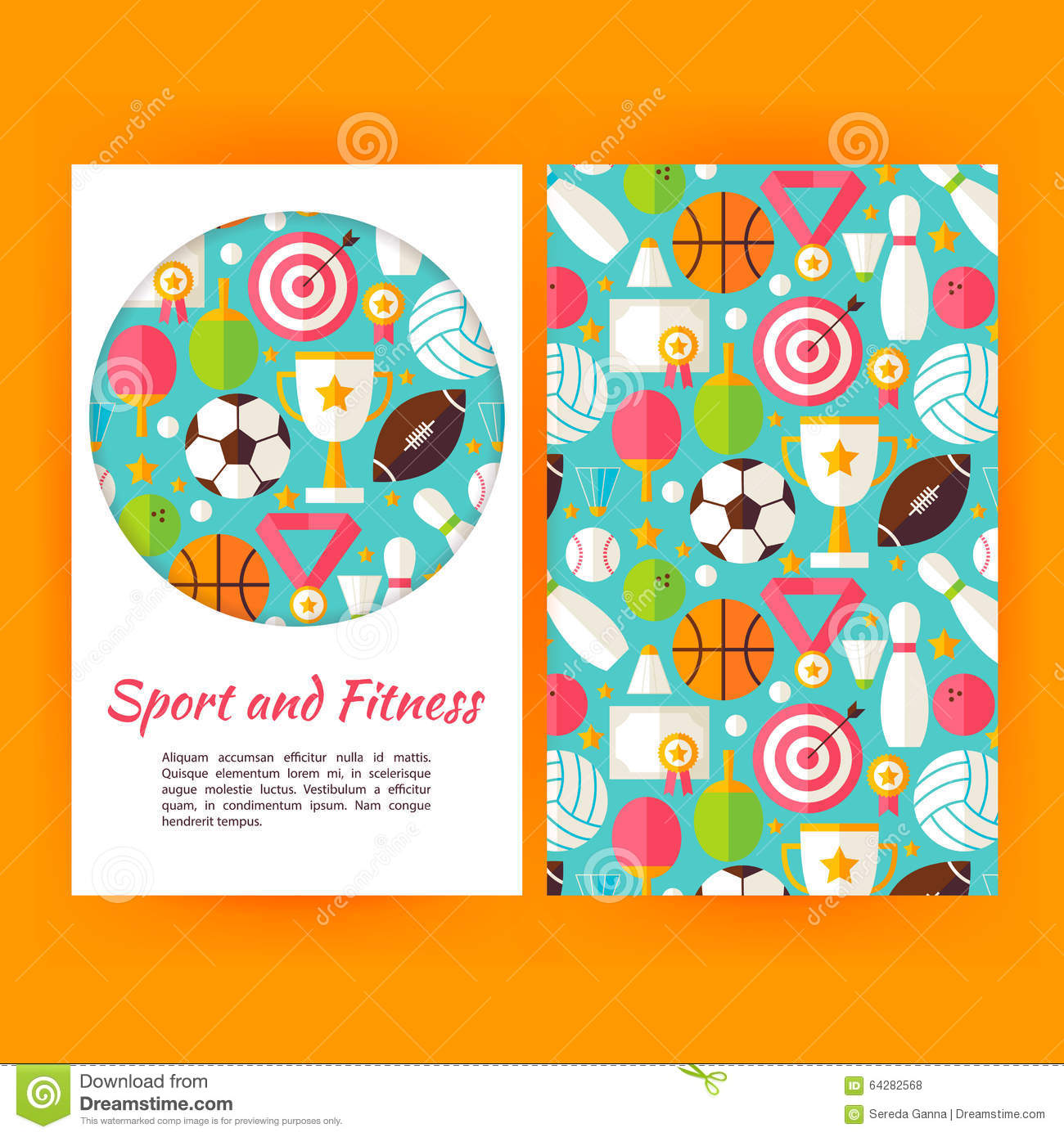 vector set sport and fitness banners royalty free cartoon 73062530. Black Bedroom Furniture Sets. Home Design Ideas
