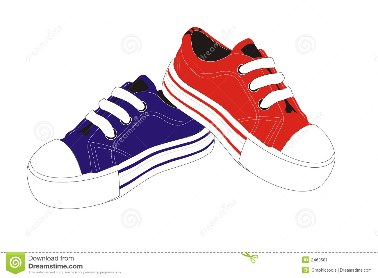 Kids Feet With Shoes Clipart