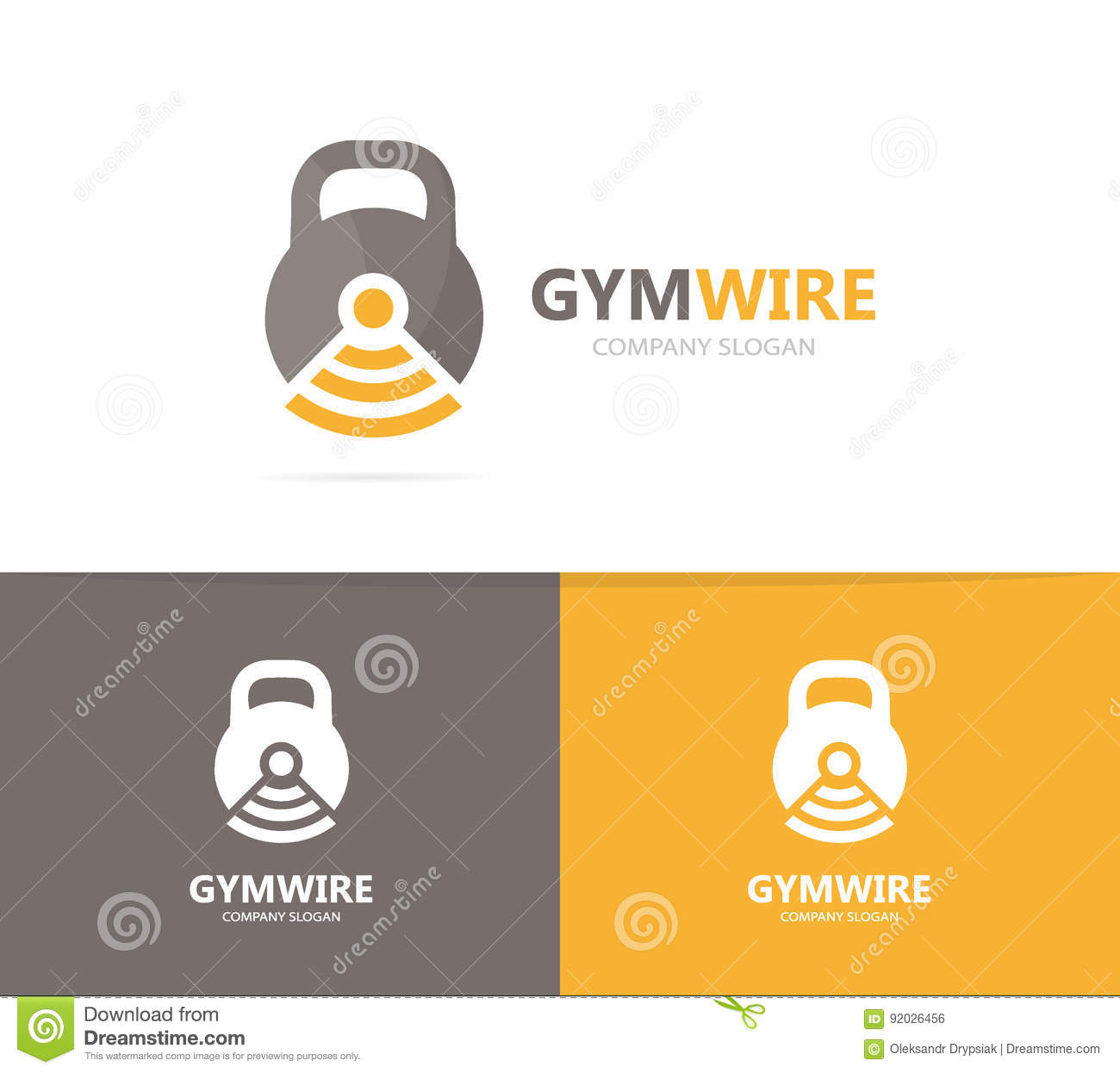 Vector Of Sport And Wifi Logo Combination Gym And Signal Symbol Or