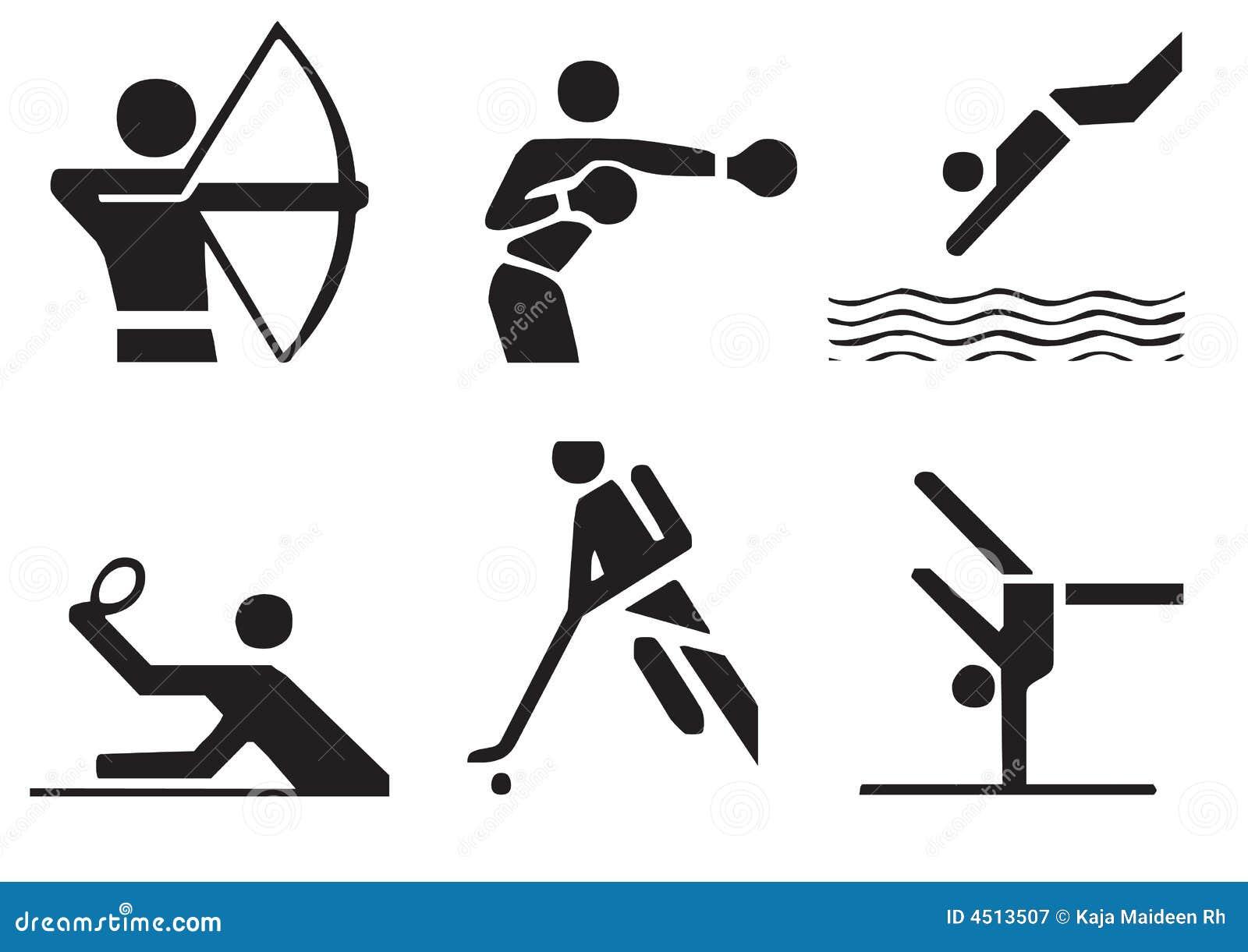 Vector sports symbols 3 stock illustration illustration of jump vector sports symbols 3 biocorpaavc