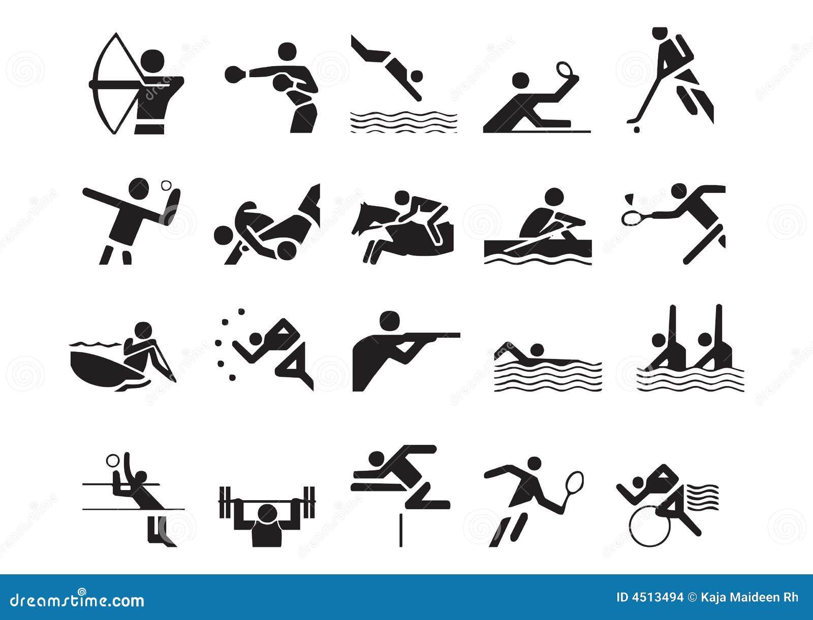 Vector Sports Symbols 2 Stock Illustration Illustration Of Horse