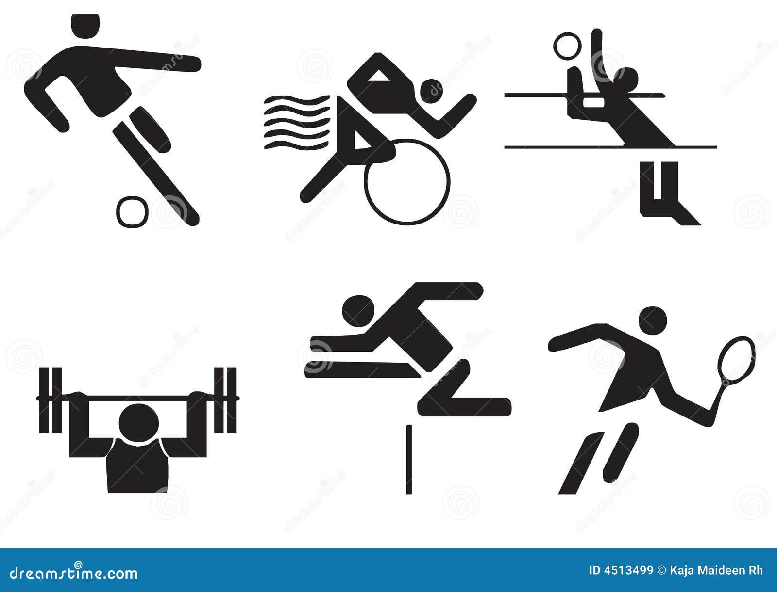 Vector Sports Symbols Stock Illustration Illustration Of Games