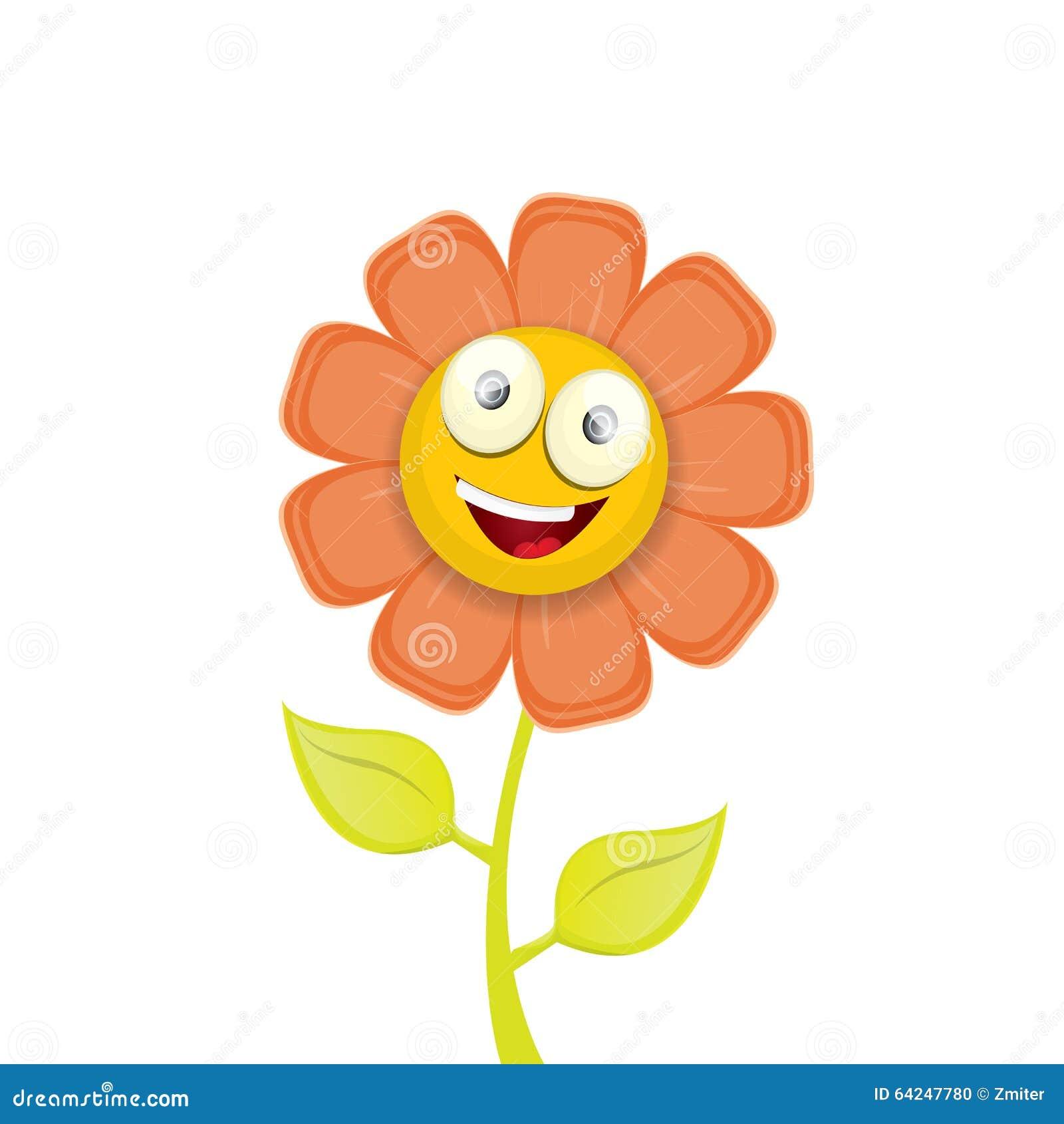 Vector Spring Cartoon Flowers On White Stock Vector ...