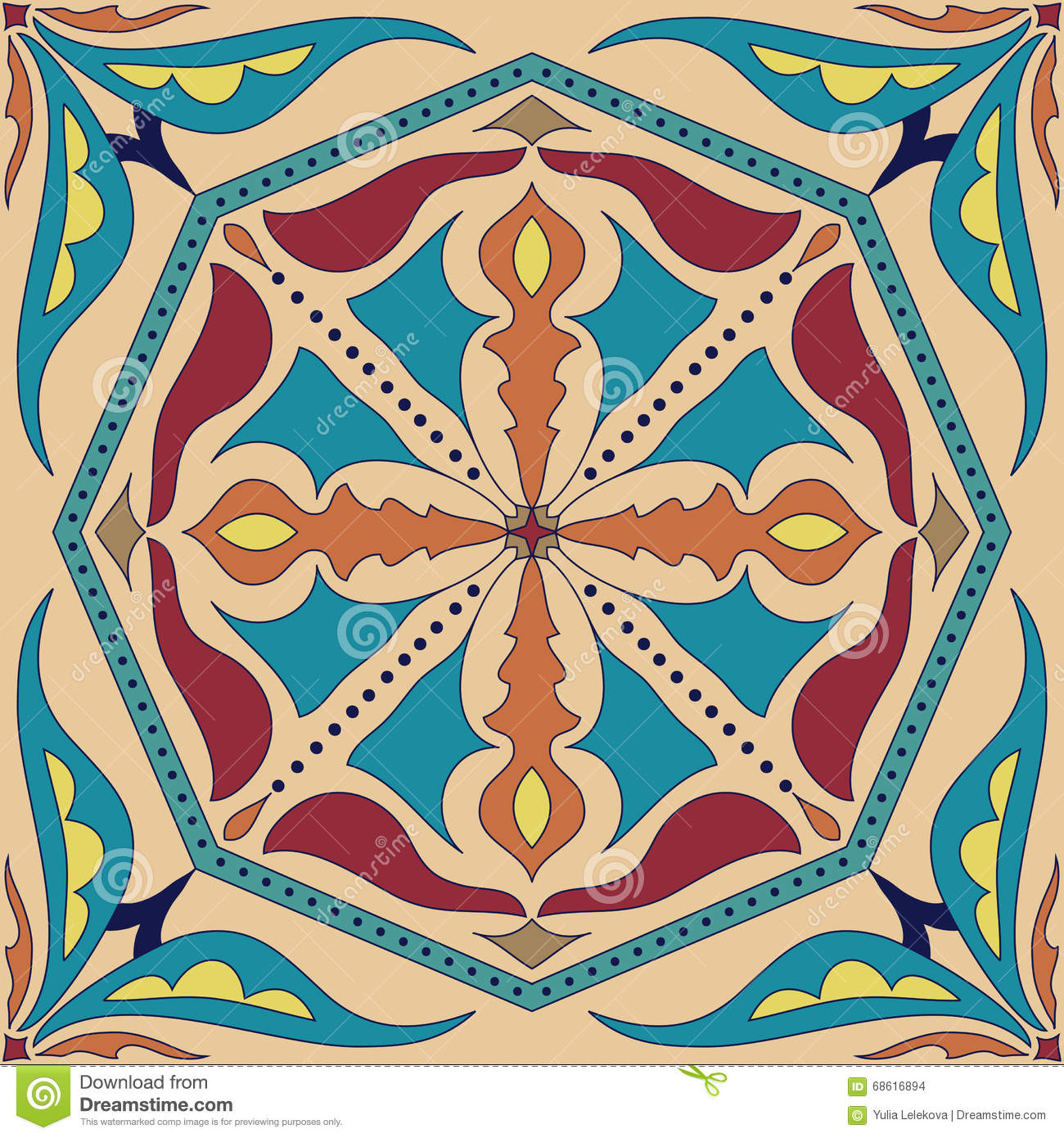 Colouring in for adults examples - Colouring Book For Adults Examples Vector Square Mandala Pattern As Example For Coloring Book For