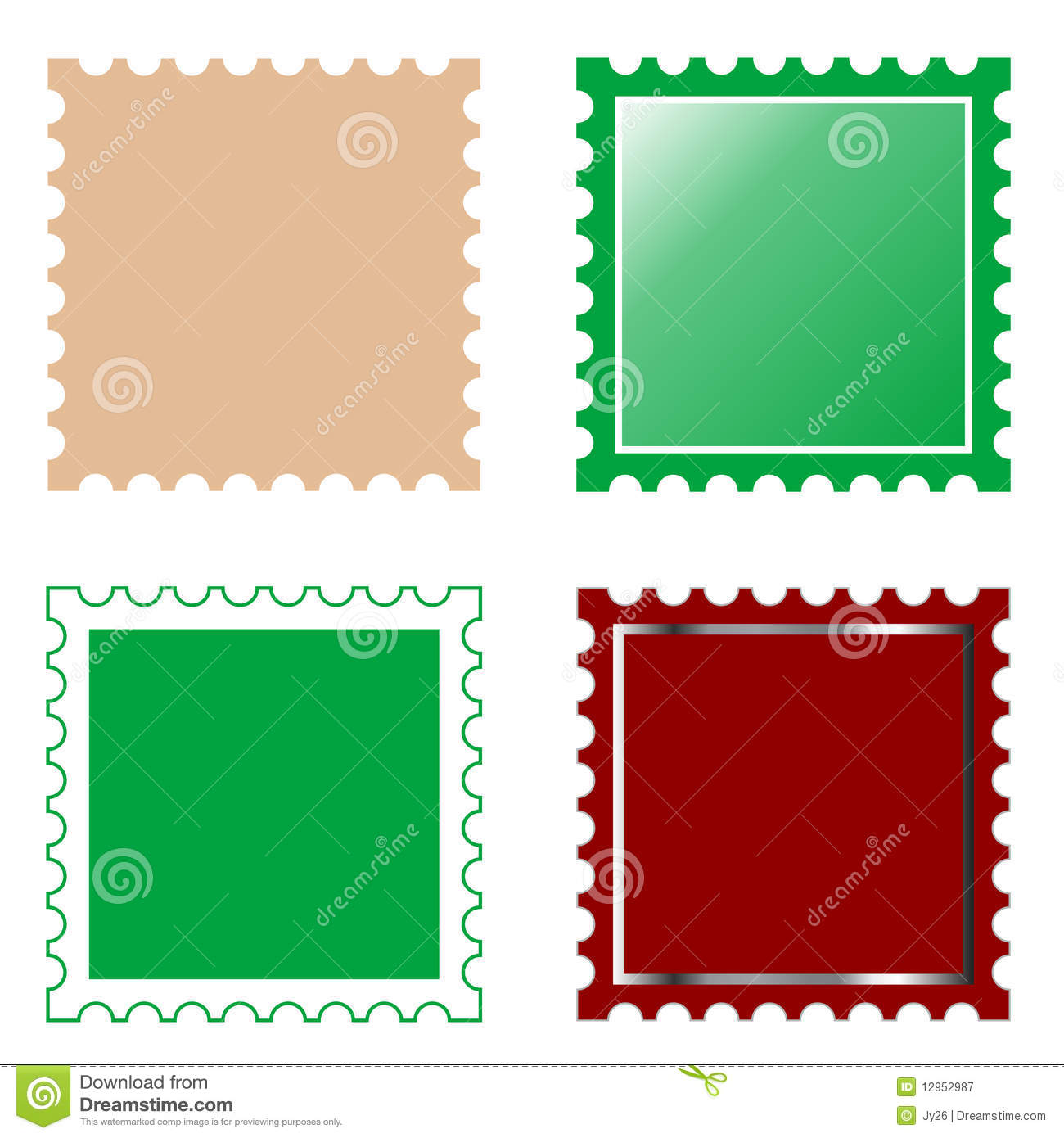 Vector Square Postage Stamp Stock Vector - Illustration ...