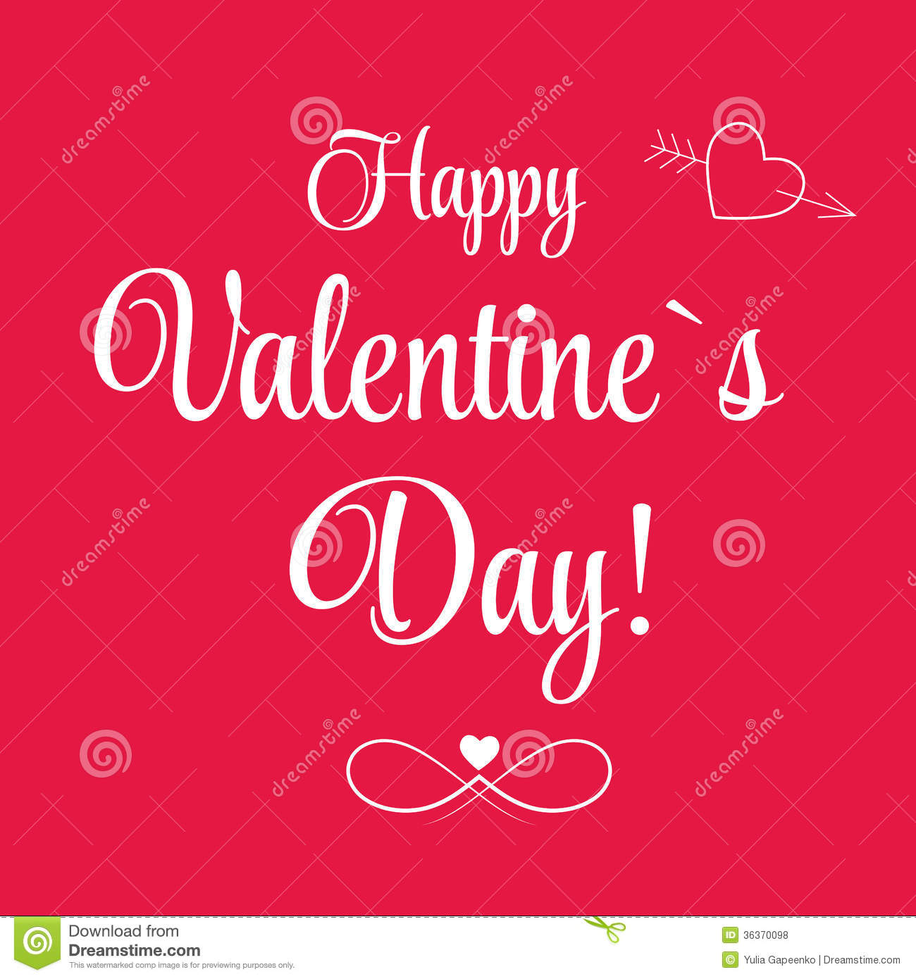 Vector St Valentine Days Greeting Card Royalty Free Photos – Saint Valentine Card