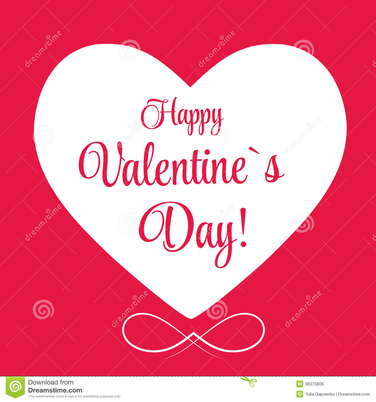 Vector St Valentine Days Greeting Card Royalty Free Images – Saint Valentine Card