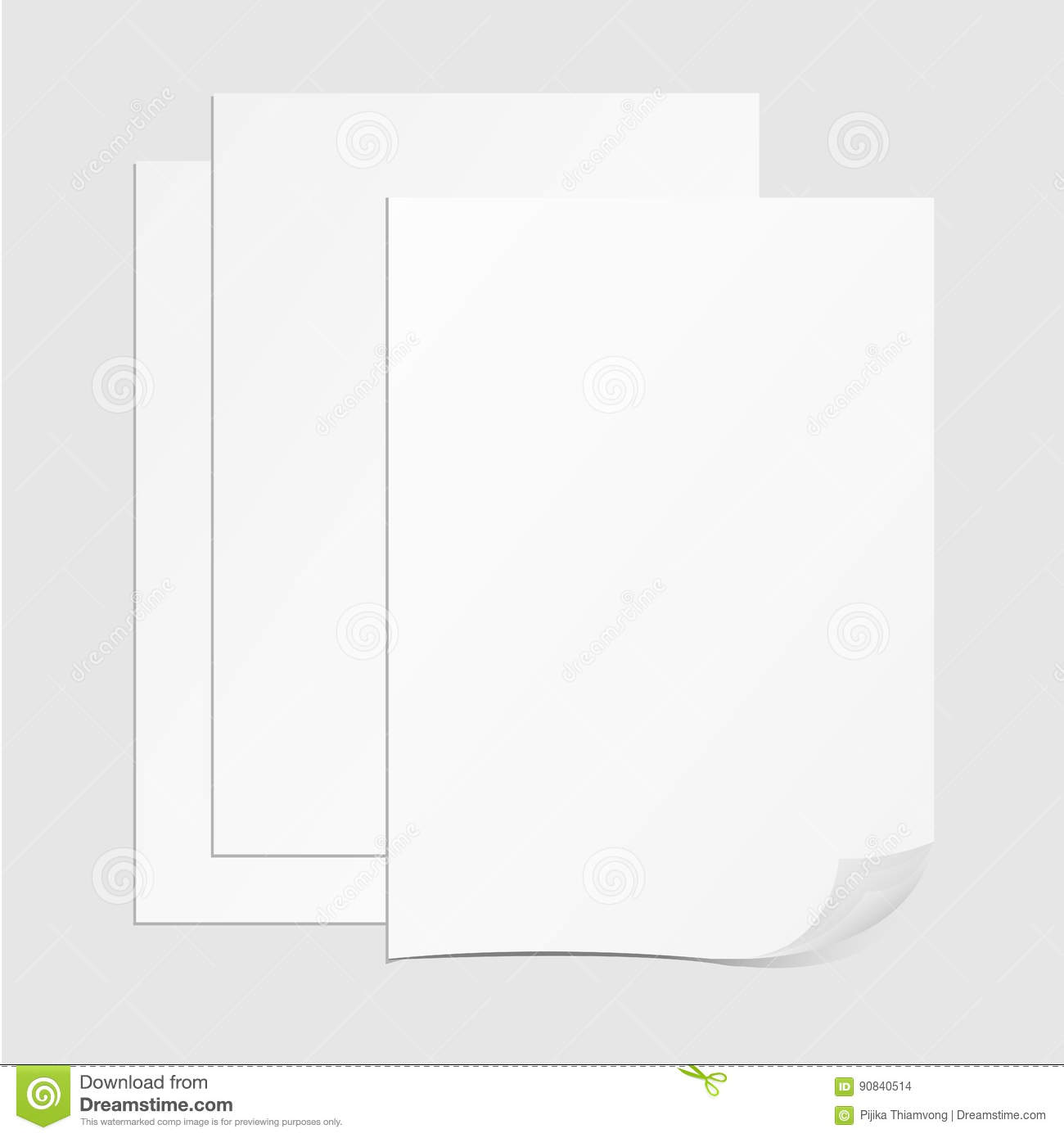 Vector Stack Of Papers, Grouped And Layered  Stock Vector