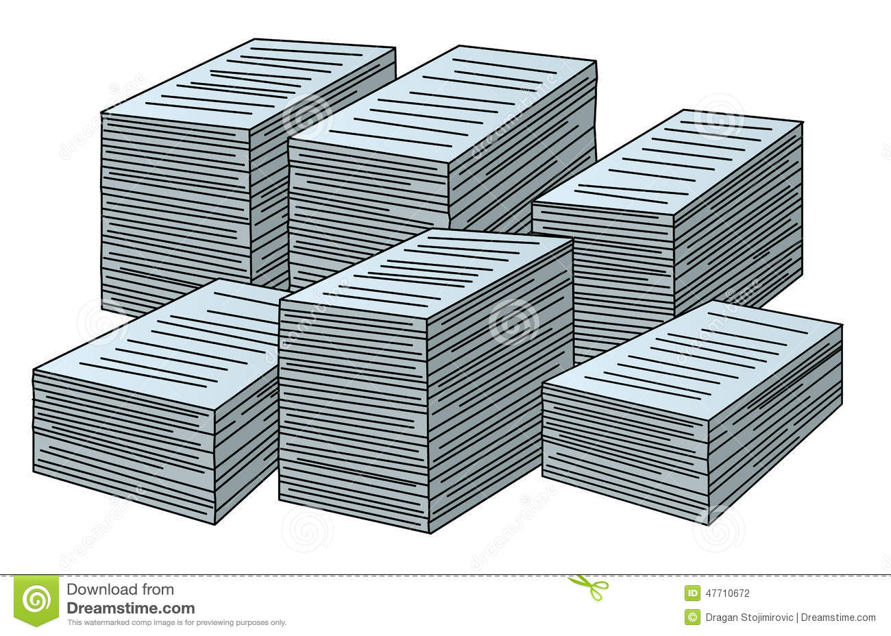 vector stacks of papers stock vector. illustration of records - 47710672