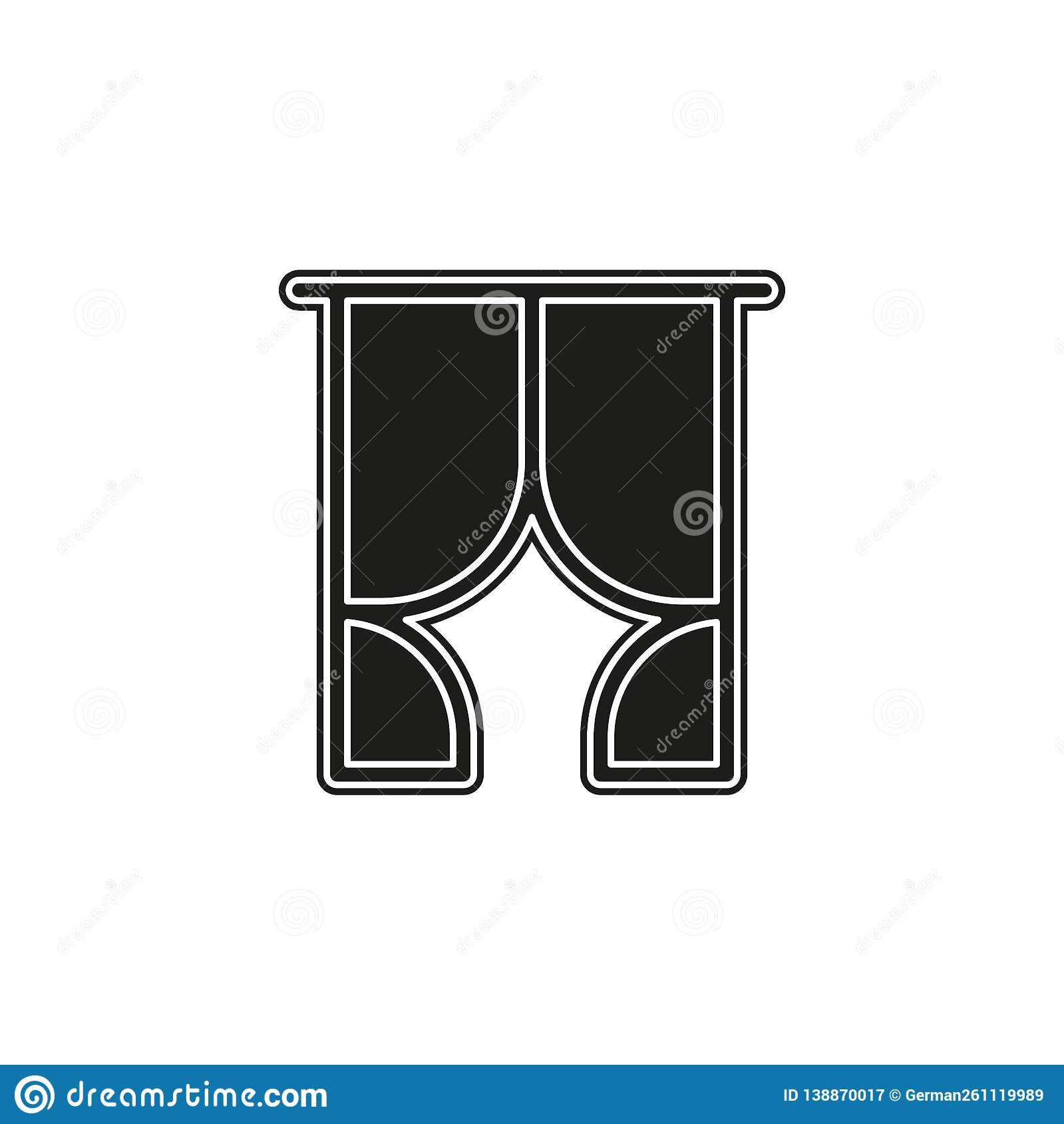 vector stage curtain illustration - theater image