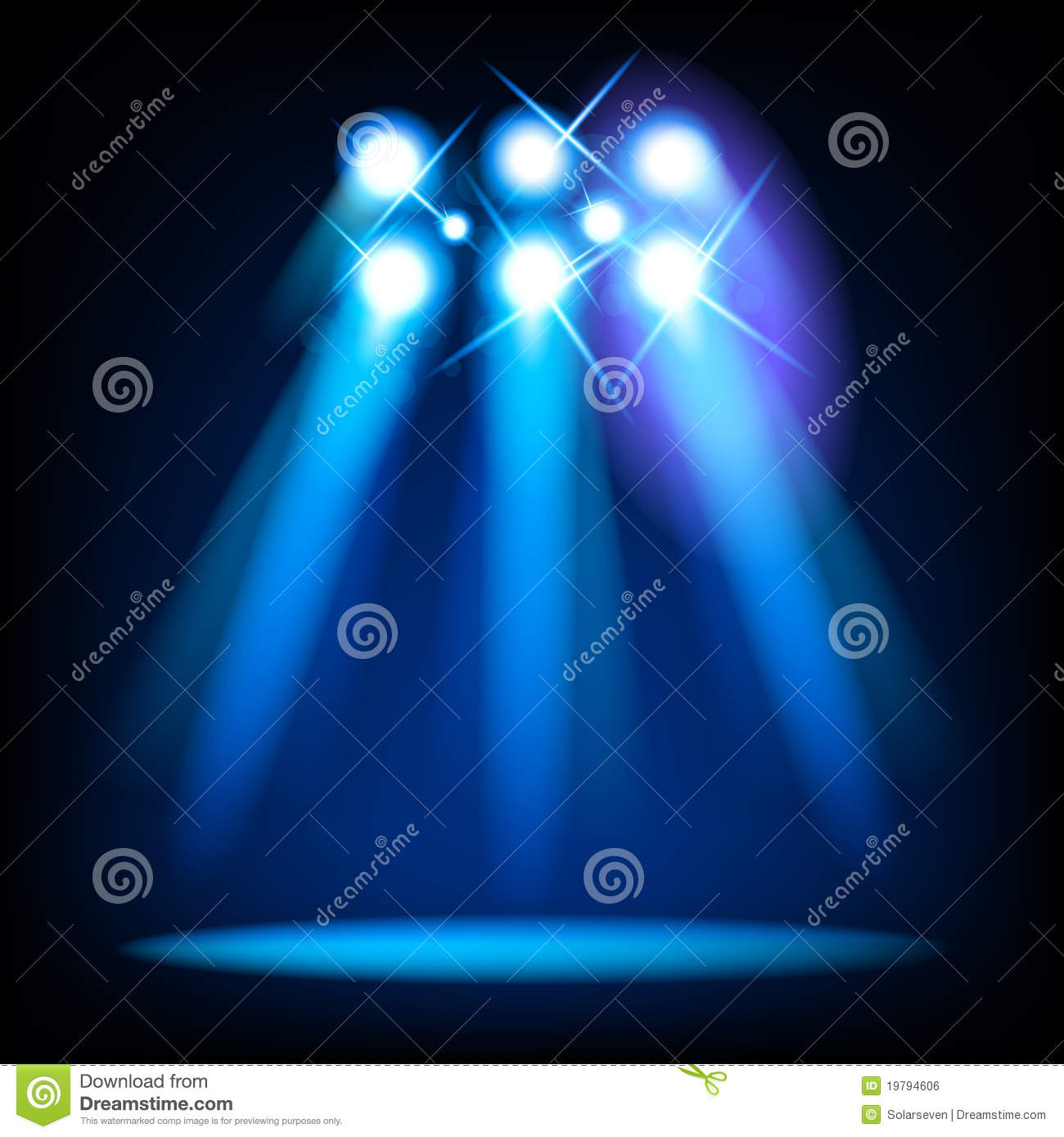 Vector Stage Lights Royalty Free Stock Image - Image: 19794606