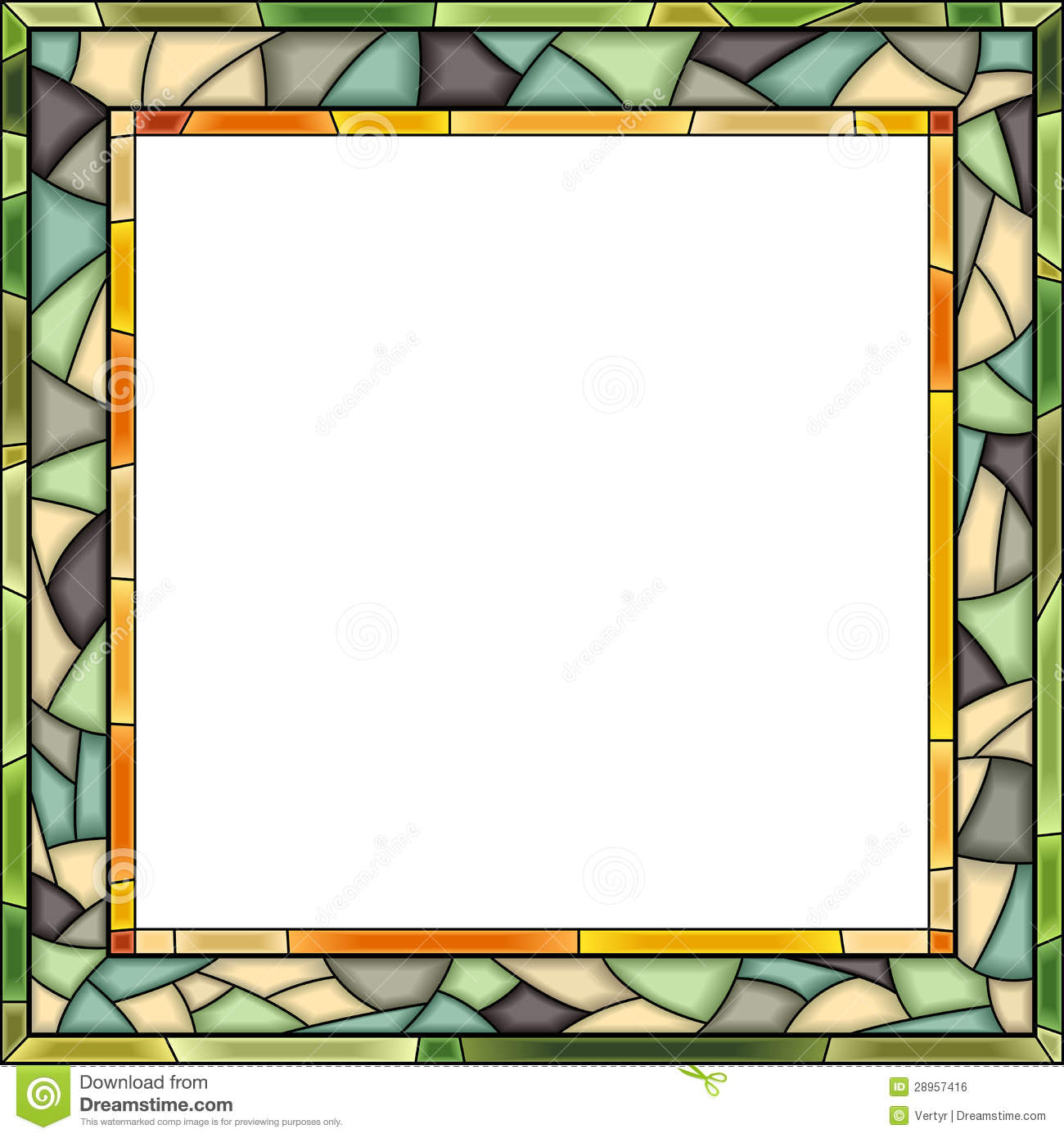 Vector Stained Glass Window Frame For Photography Stock