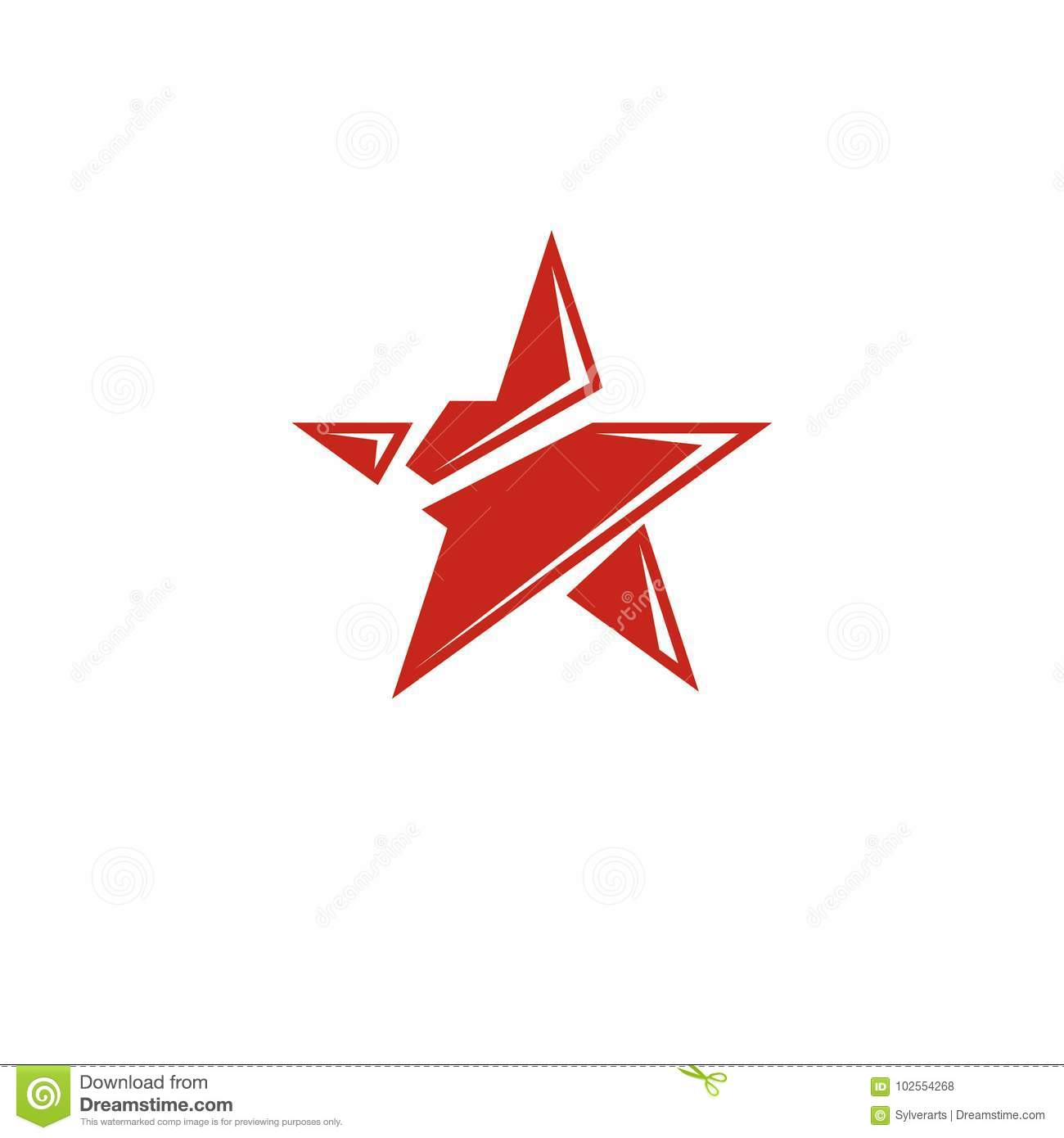 Vector Star Illustration As The Symbol Of Success Can Be Used A