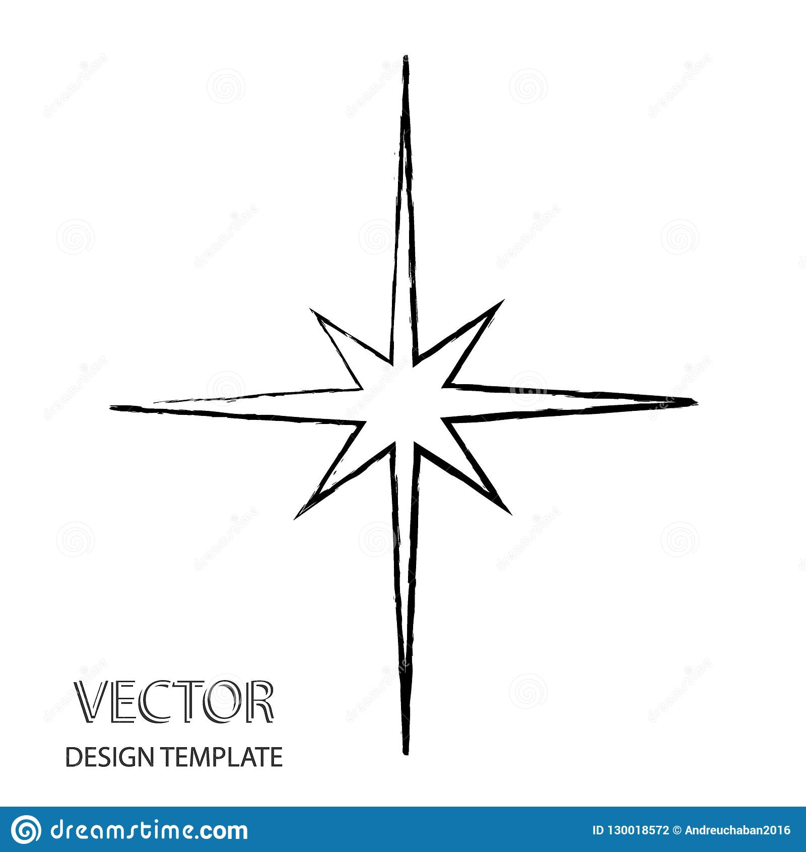 Vector Star   Retro Star   Star Background   Black Star