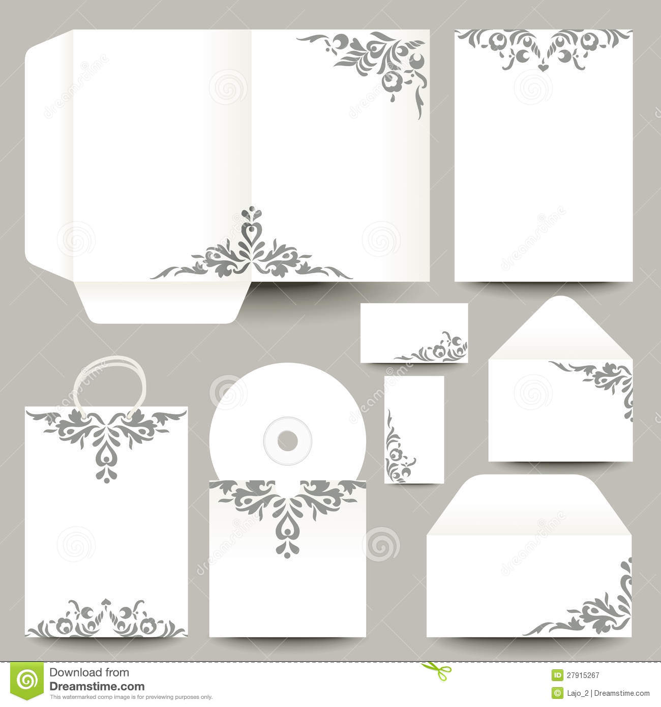 Free Vector Printable Stationery Design Template: Vector Stationery Design Royalty Free Stock Photography