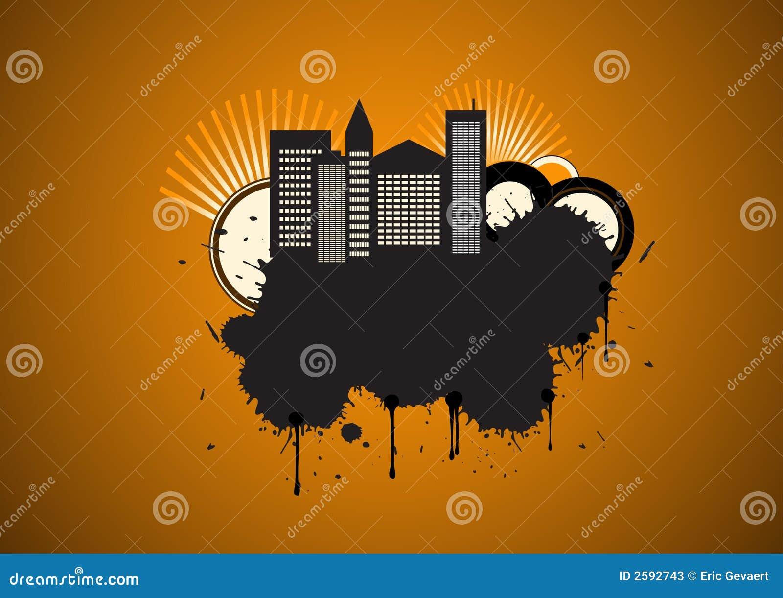 Vector stedelijk grungeontwerp