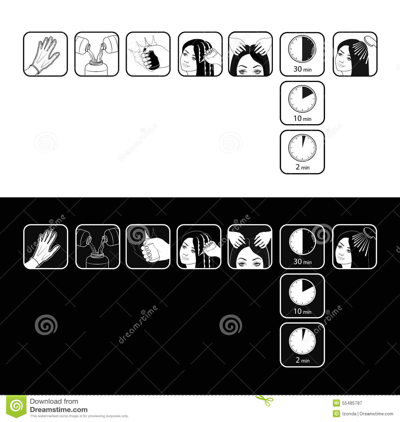 Ingrown Hair Vector Illustration Manual Guide
