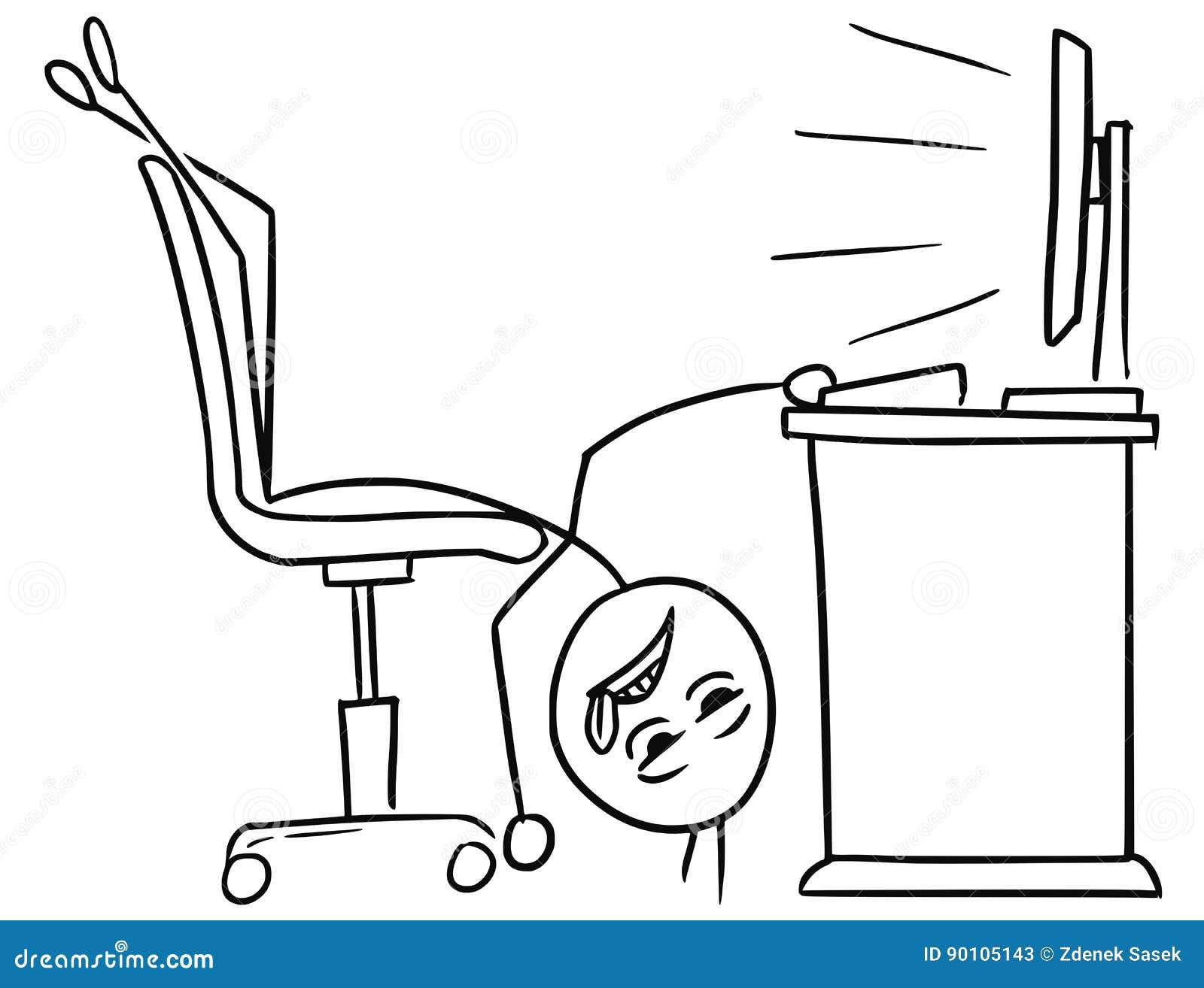 Astonishing Vector Stick Man Cartoon Of Man Lying On The Office Chair Download Free Architecture Designs Scobabritishbridgeorg