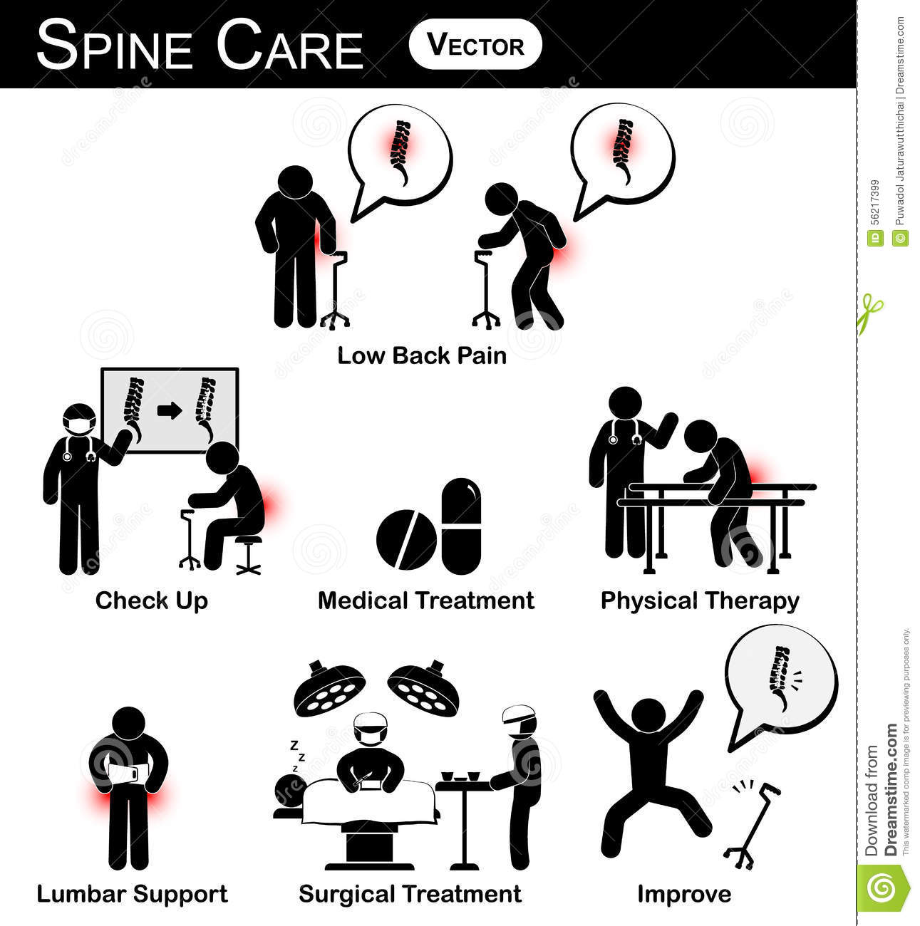 Spondylosis Cartoons  Illustrations  U0026 Vector Stock Images