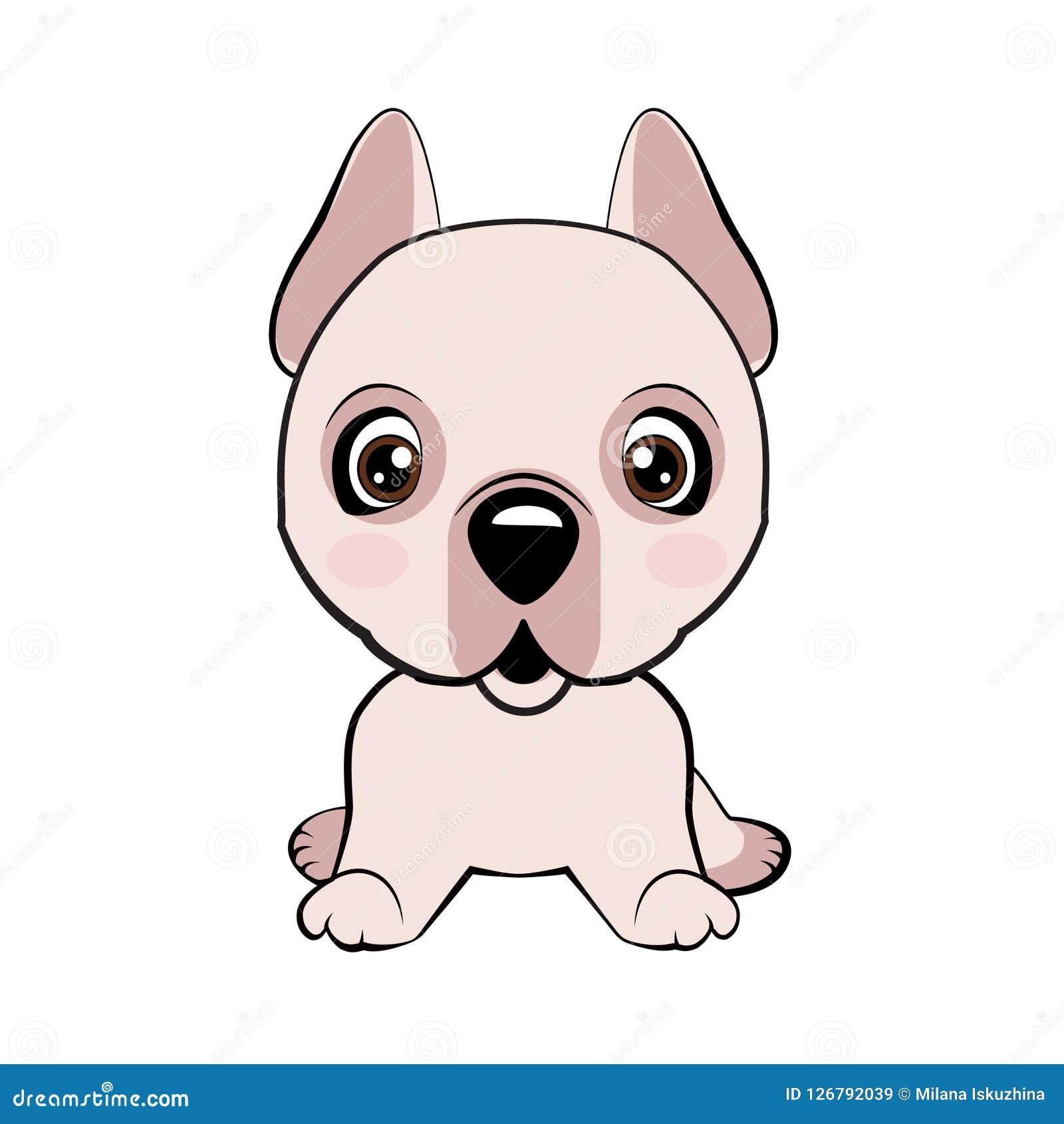 Emoji Character Cartoon Dog Embarrassed, Shy And Blushes