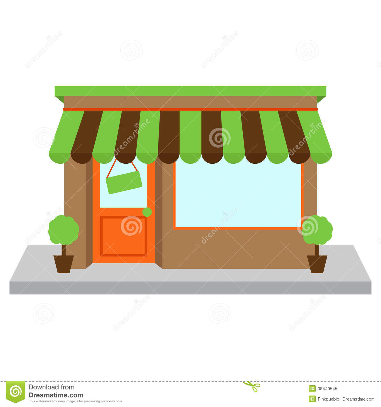 Vector Store Front Or Shop With Window Stock Image Image