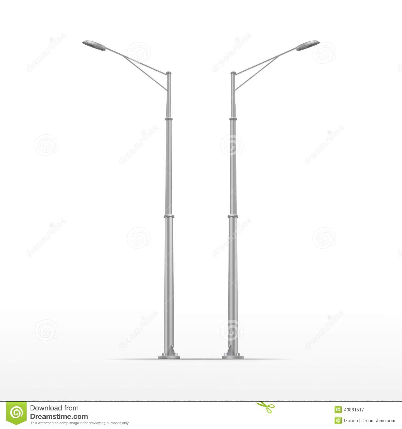 Vector Street Lamp Isolated On White Background Stock Vector ... for Street Lamp Post Vector  113cpg