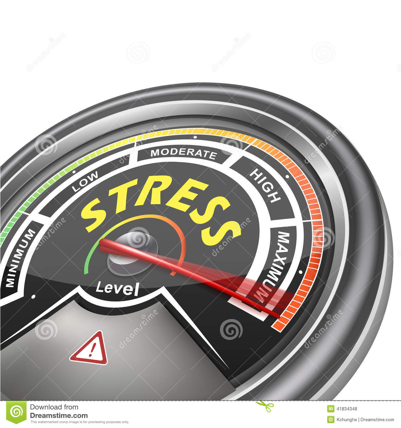 Stress Level Meter : Vector stress conceptual meter indicator stock