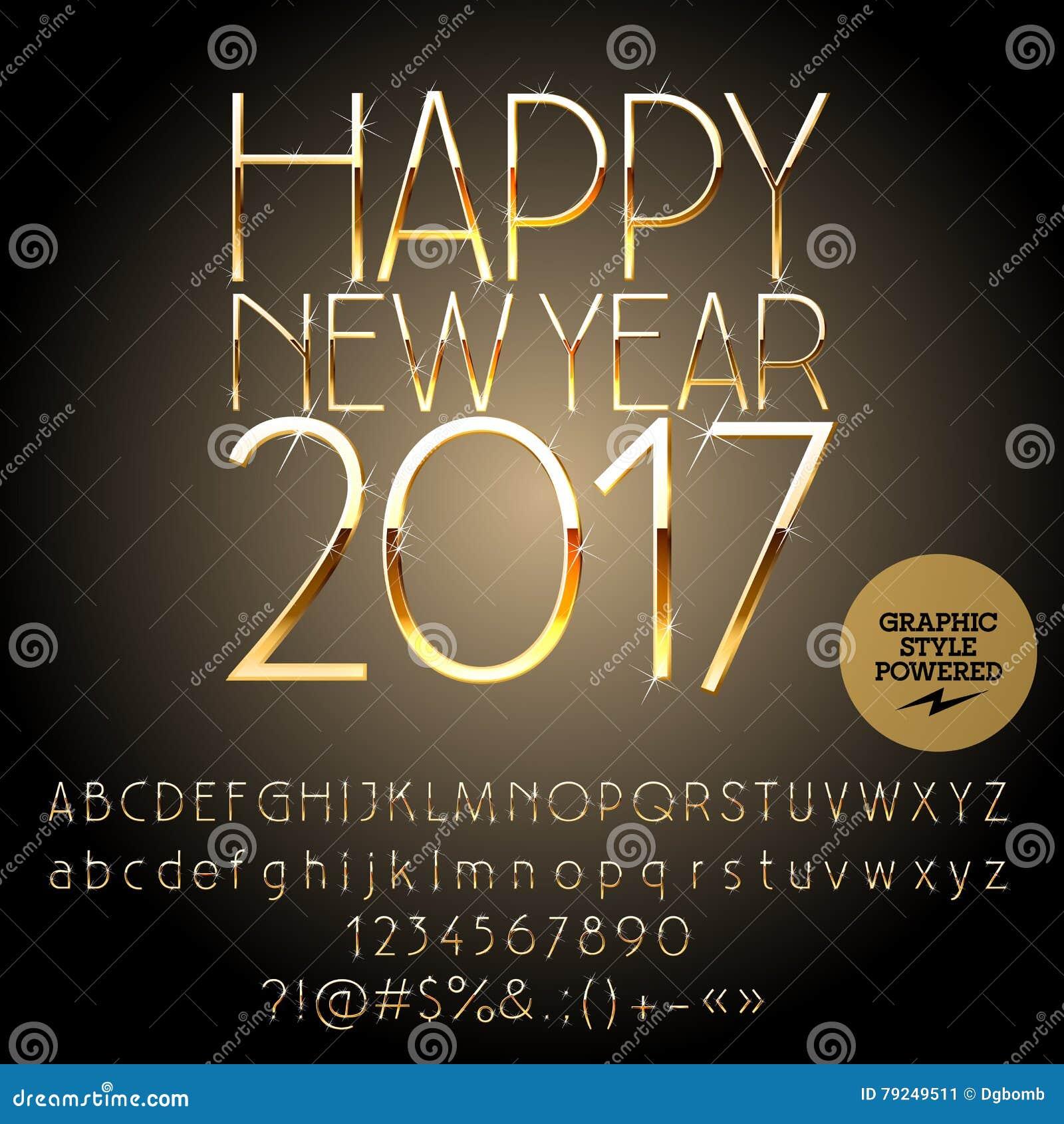 Vector stylish happy new year 2017 greeting card stock vector vector stylish happy new year 2017 greeting card buycottarizona Gallery
