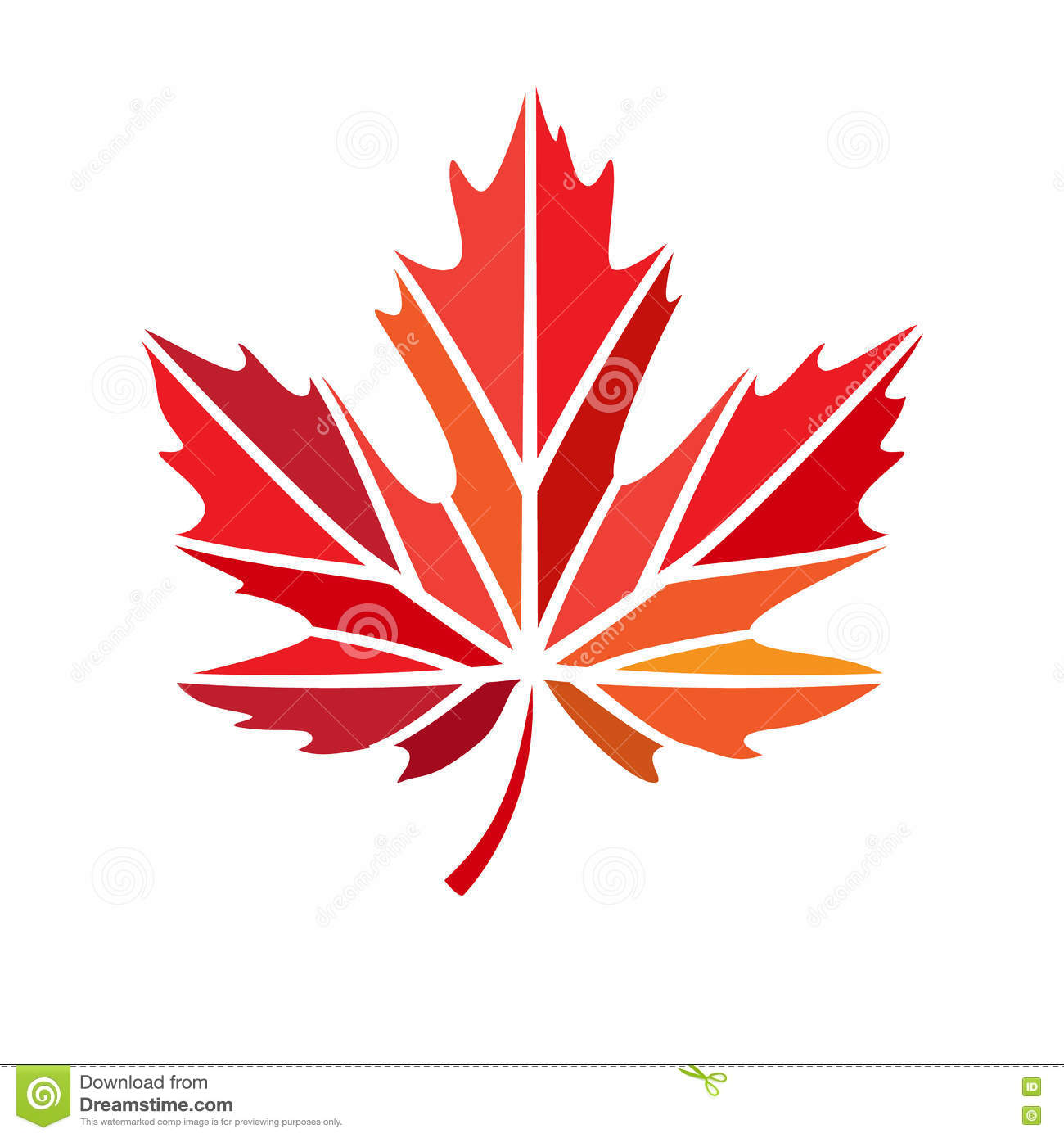 Vector Stylize Logo With Red Maple Leaf Stock Vector ...