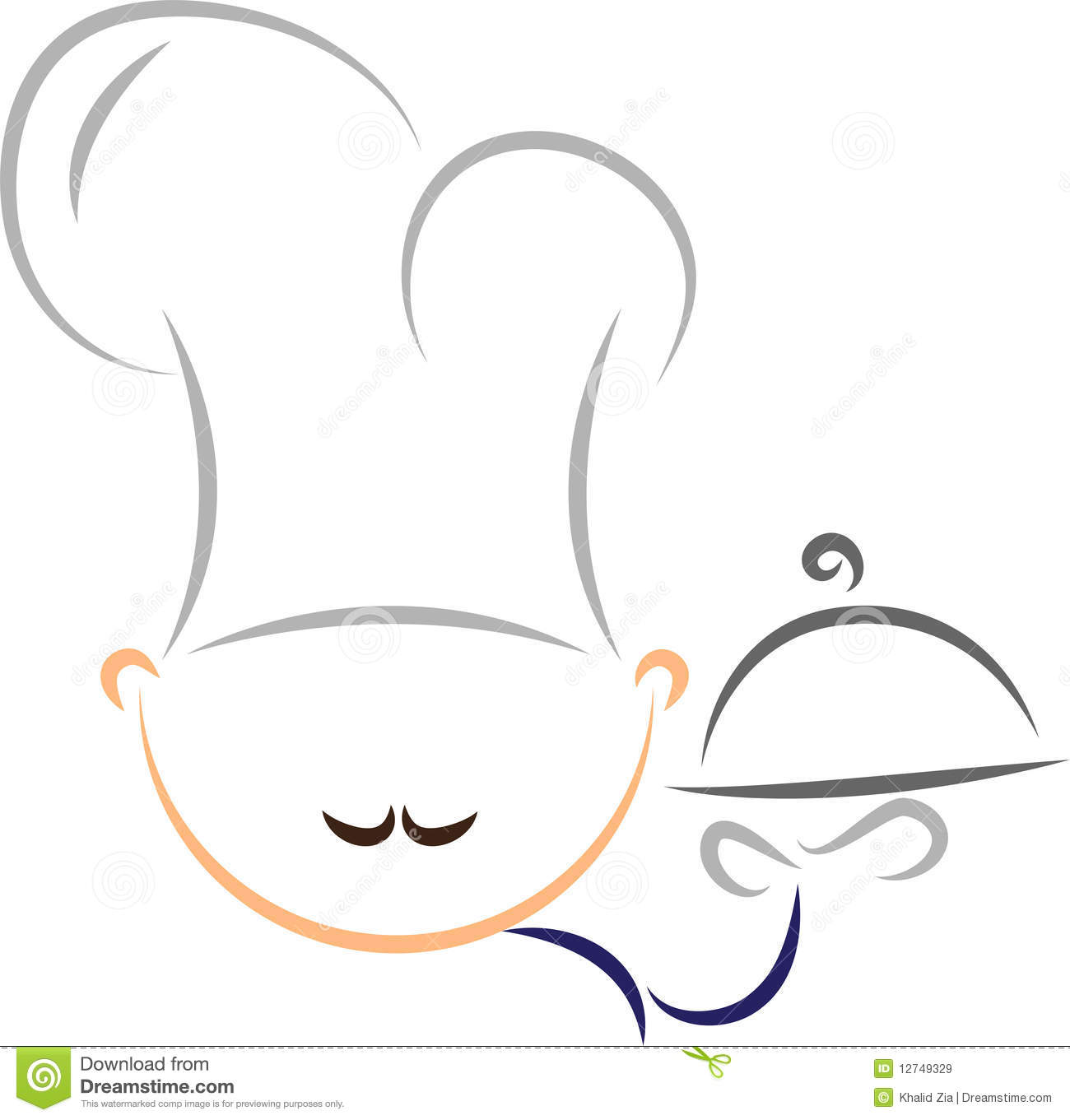 Vector Stylized Chef Royalty Free Stock Images - Image: 12749329