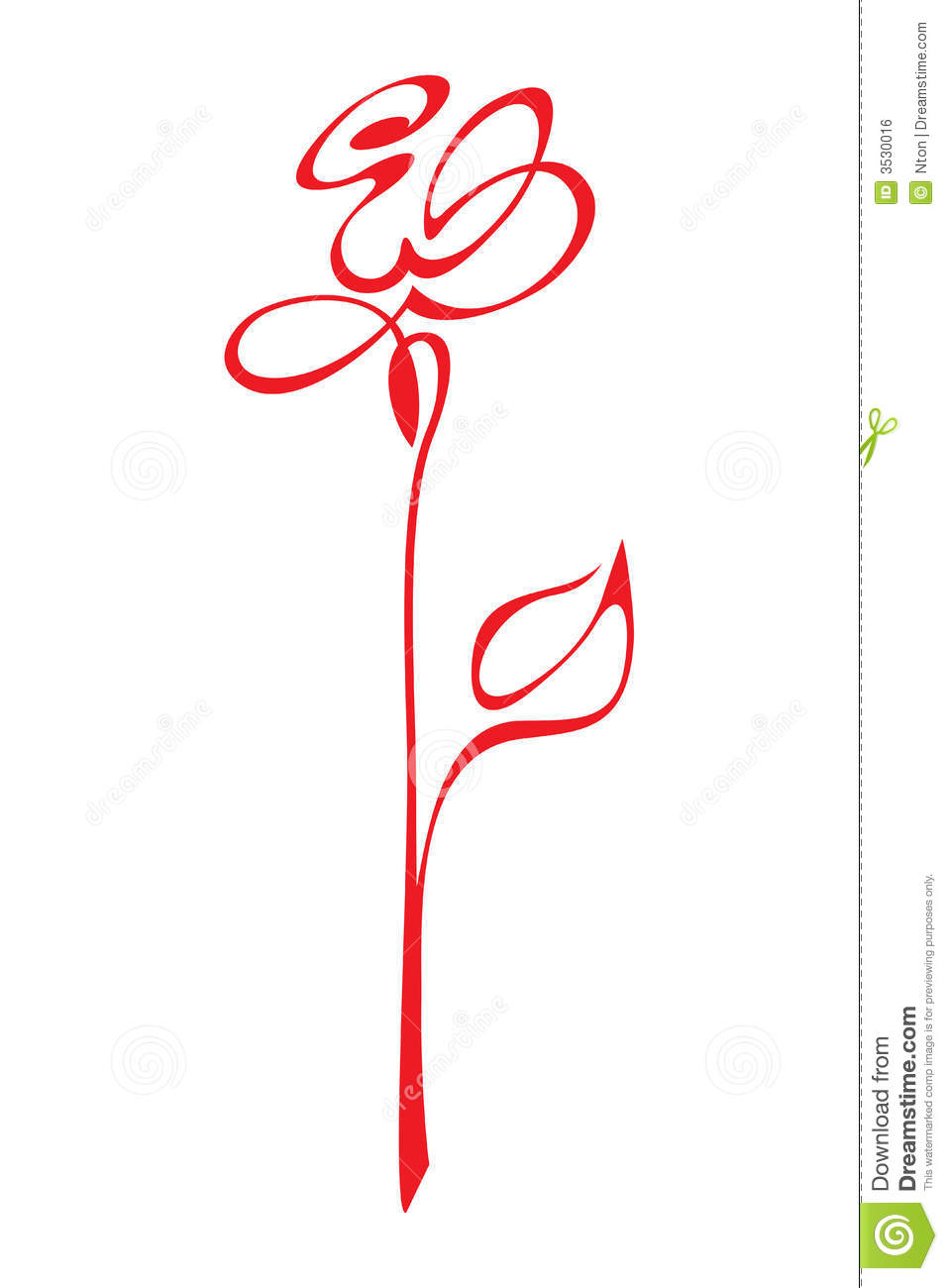 Vector Stylized Red Rose Royalty Free Stock Image Image 3530016