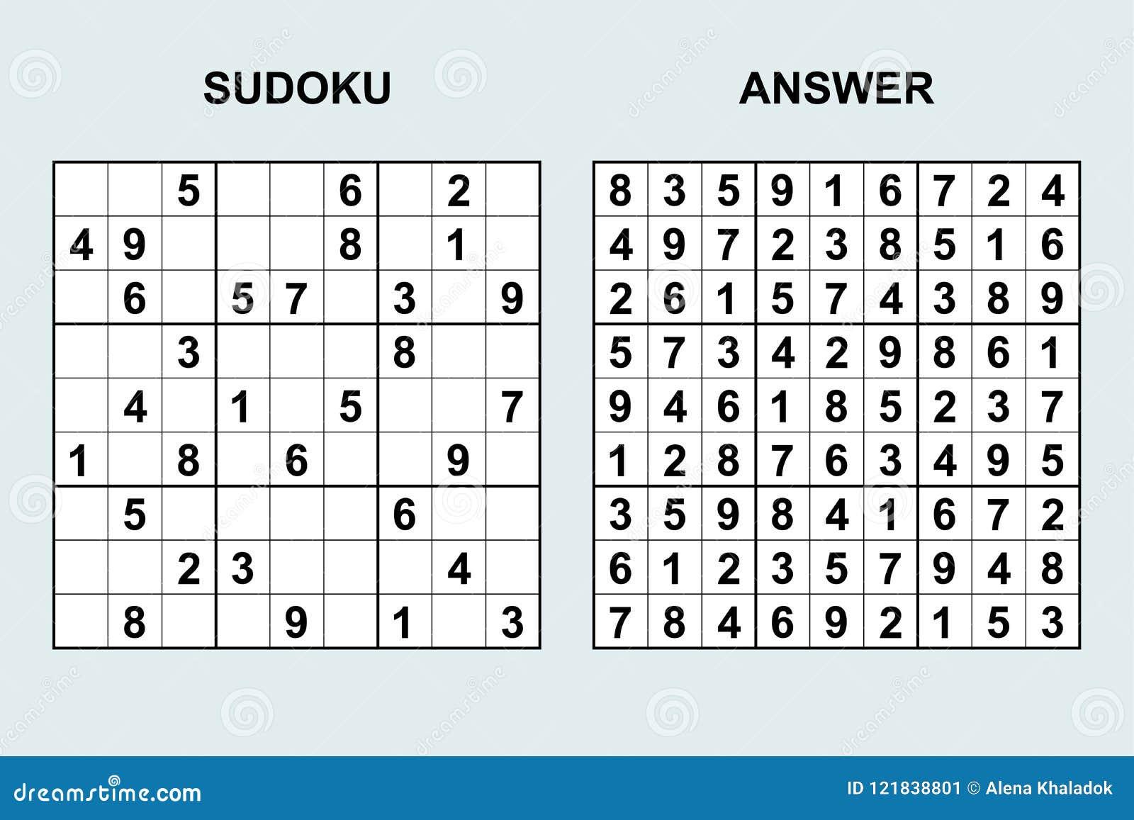 Vector Sudoku Answer Stock Illustrations – 317 Vector Sudoku Answer ...