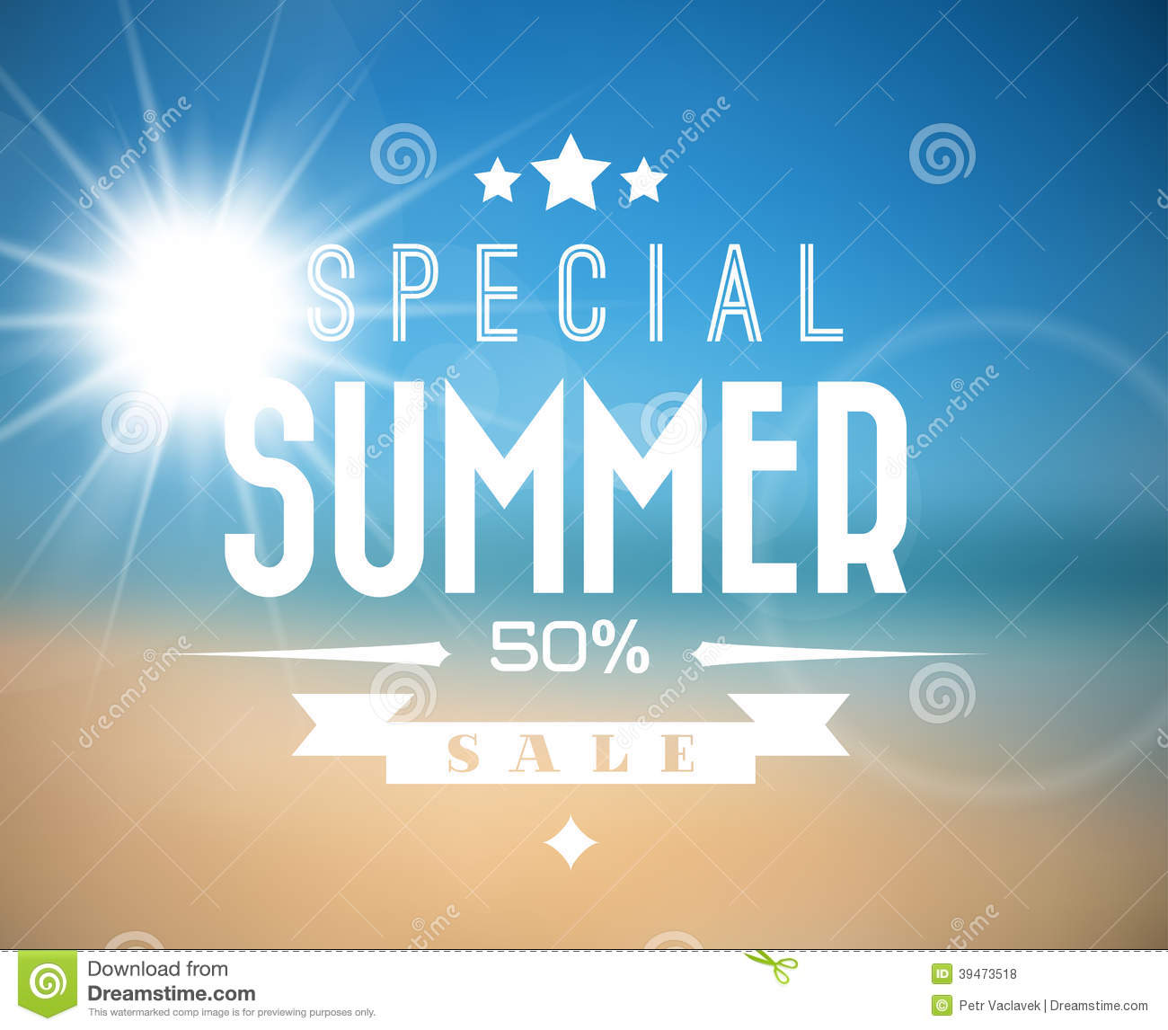 Vector summer sale poster stock vector image 39473518 for Abstract posters for sale