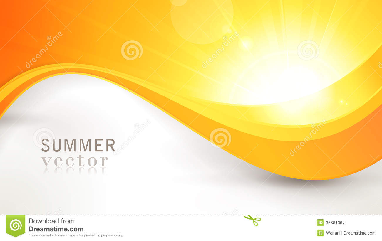 vector summer sun with wavy pattern and lens flare royalty