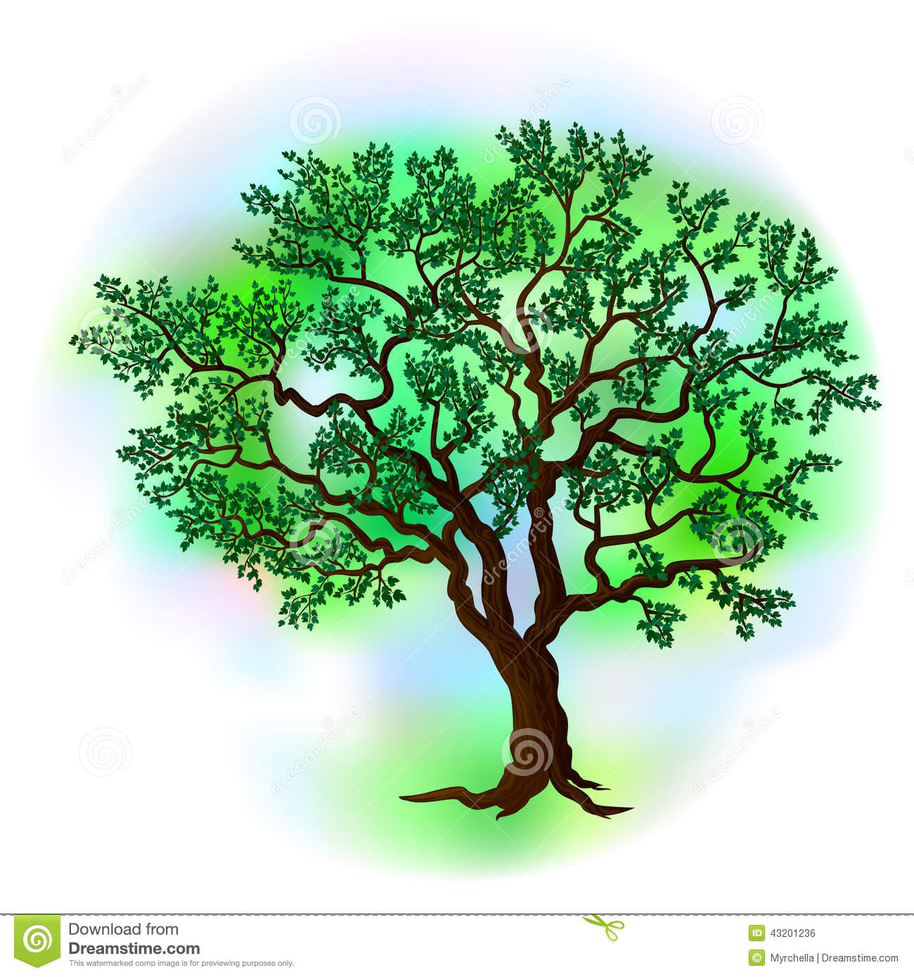 Vector summer tree stock vector. Illustration of garden ...