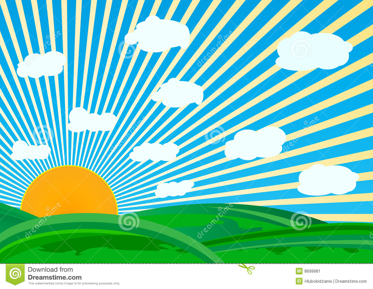 Vector Sunny Day Stock Image  Image: 8699981