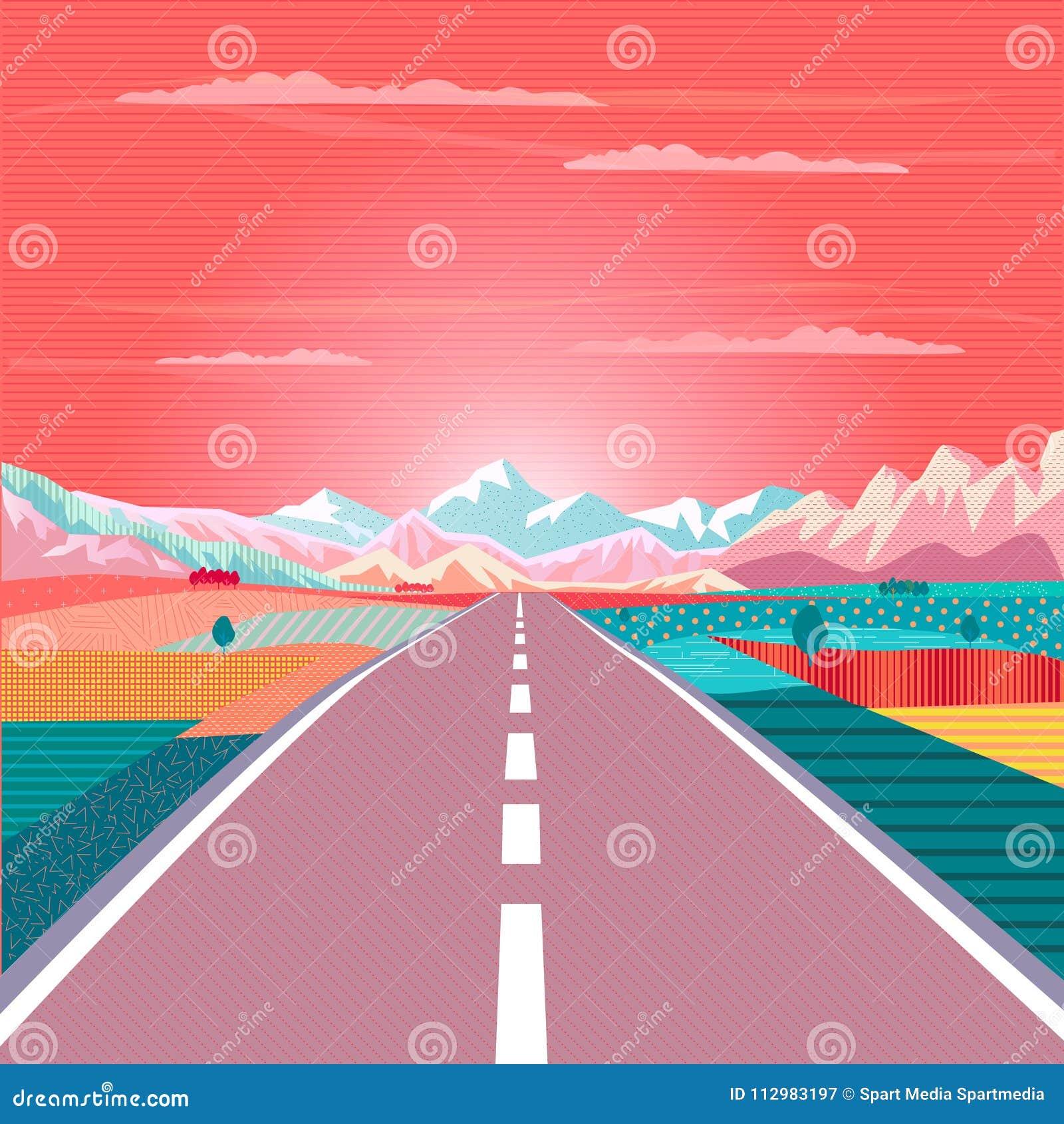 Road trip Rocky Mountain Sunset Summer travel adventure