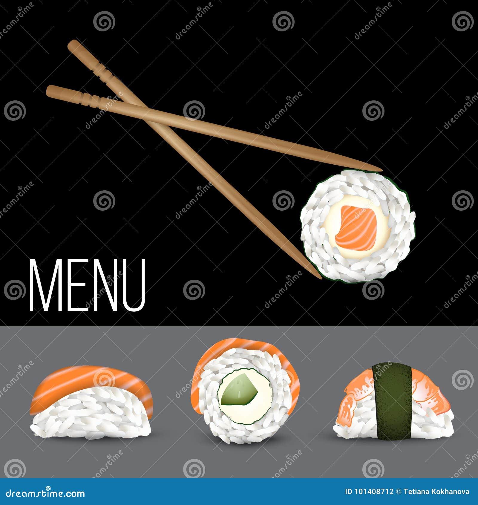 Vector Sushi set. Realistic icon.