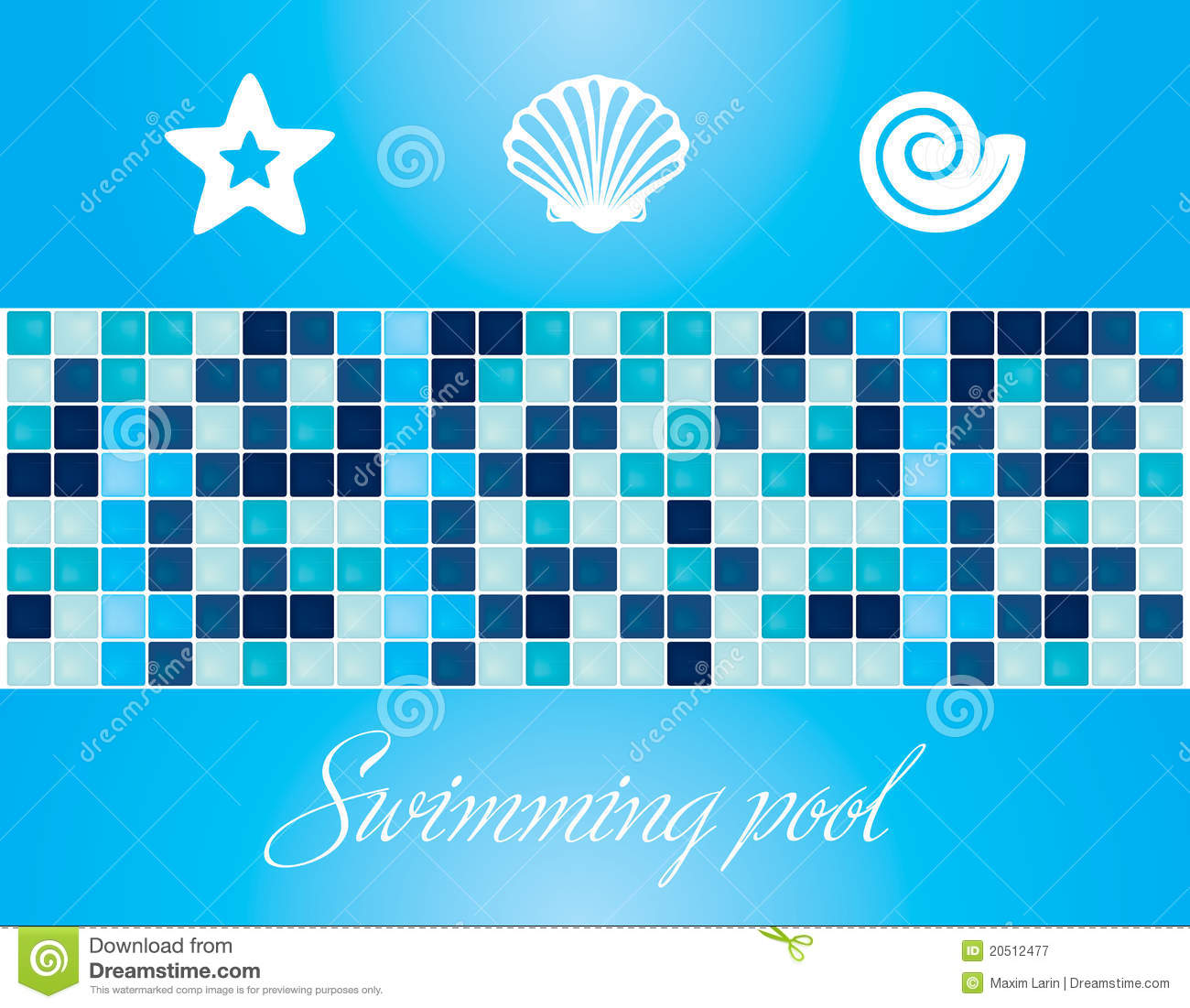 Vector Swimming Pool Elements And Textures Stock Vector