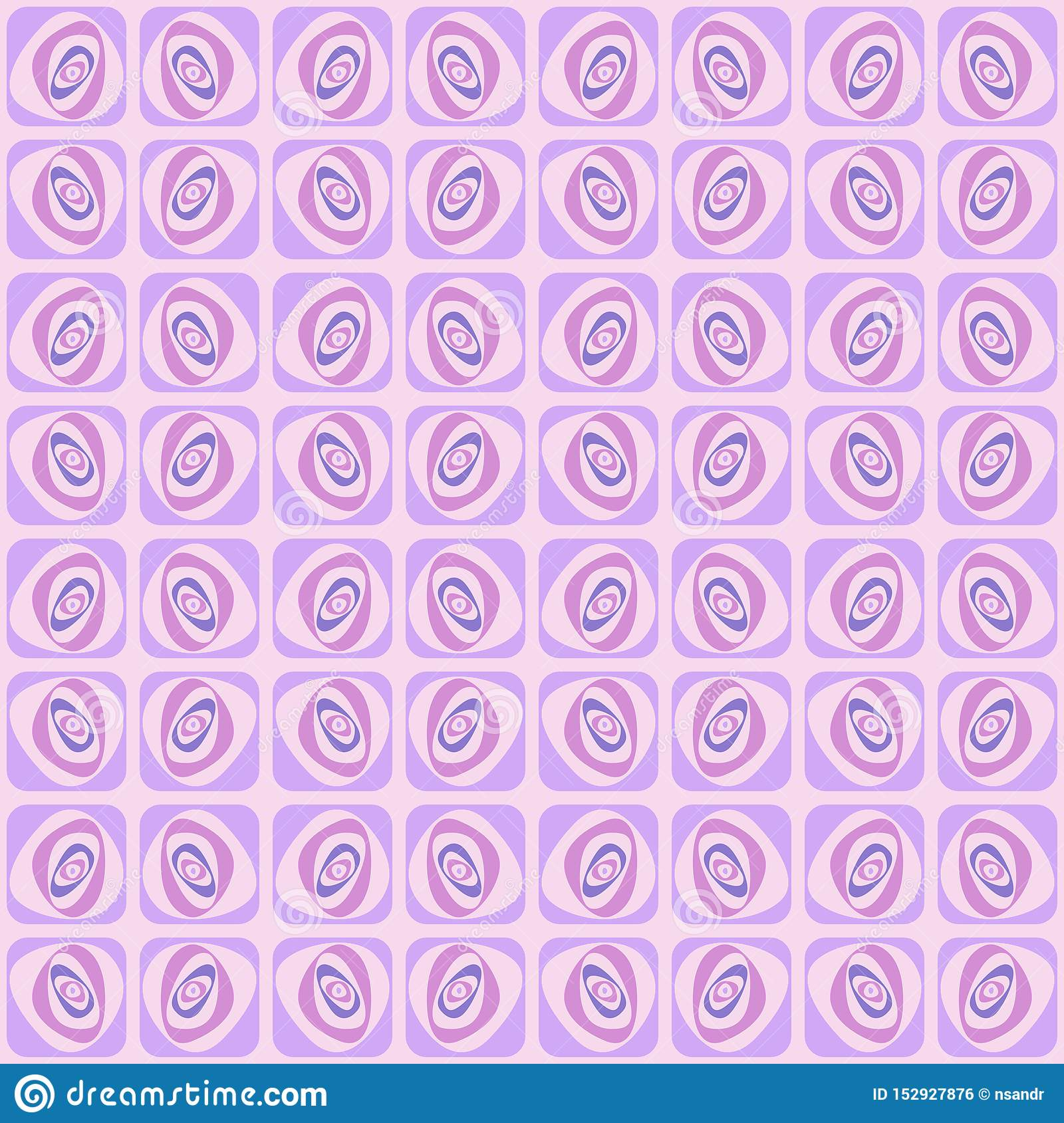 Vector swirl seamless pattern. Retro abstract geometric ornament for textile, prints, wallpaper, wrapping paper, web etc