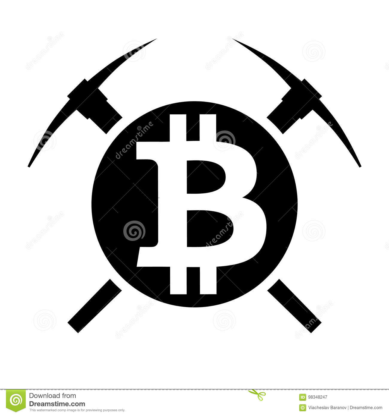 Vector symbol of cryptocurrency bitcoin mining stock vector vector symbol of cryptocurrency bitcoin mining royalty free stock photography biocorpaavc Gallery